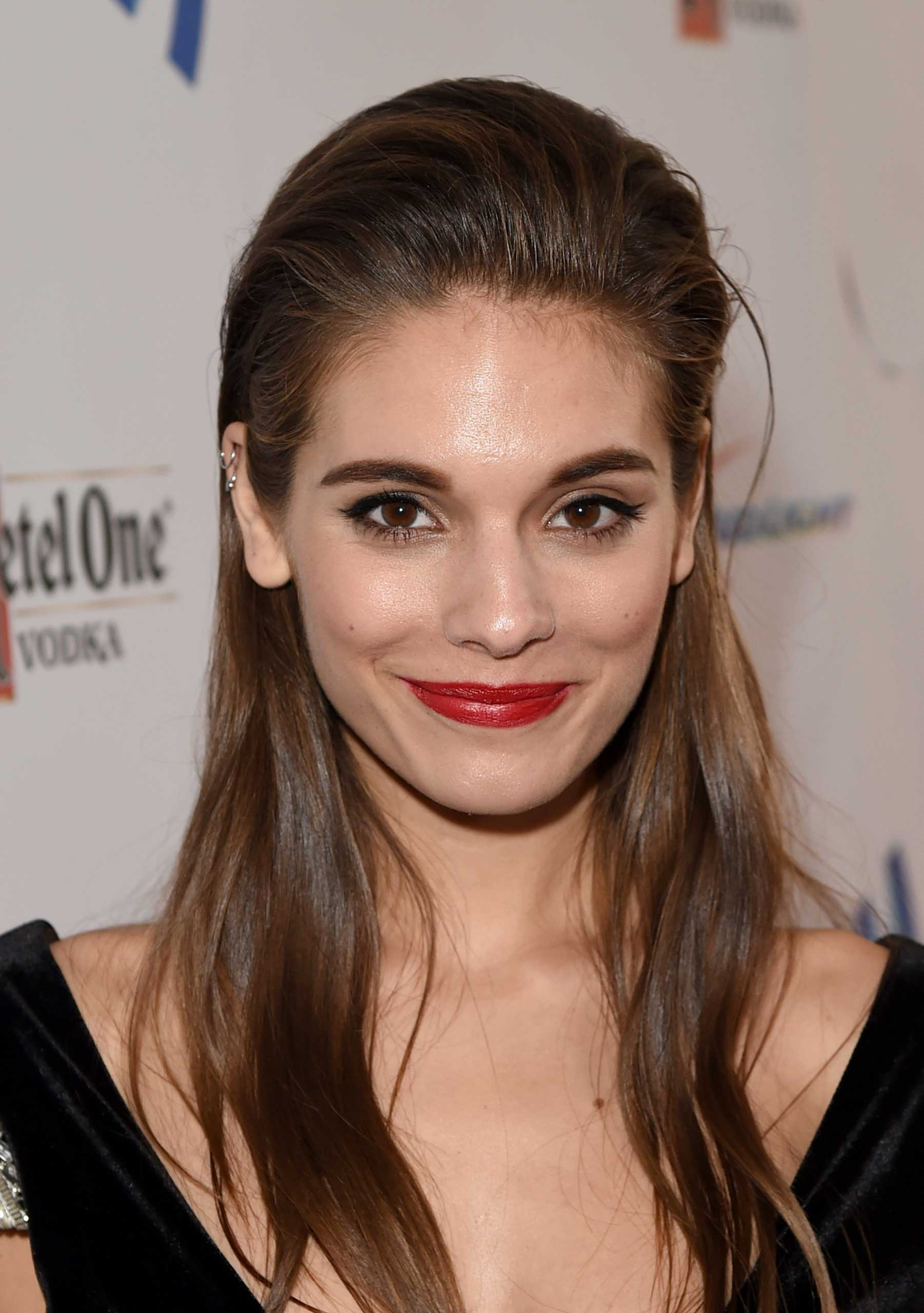 Actress Caitlin Stasey attends the 25th Annual GLAAD Media Awards at The Beverly Hilton Hotel in Los Angeles on April 12, 2014.