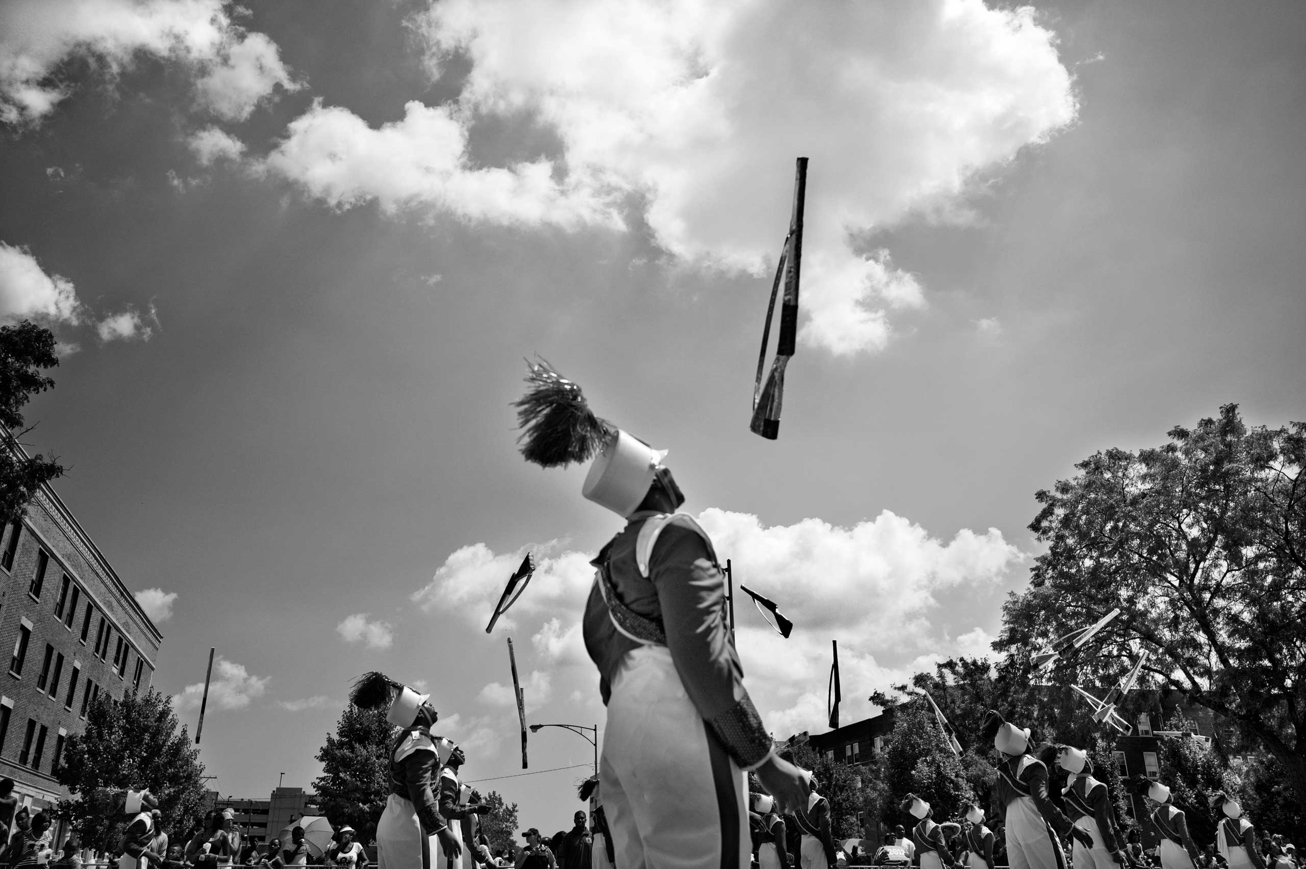 The Bud Billiken parade, the oldest African-American parade in the country, kicks off the new school year and celebrates black life in Chicago. Washington Park, Chicago, 2013.
