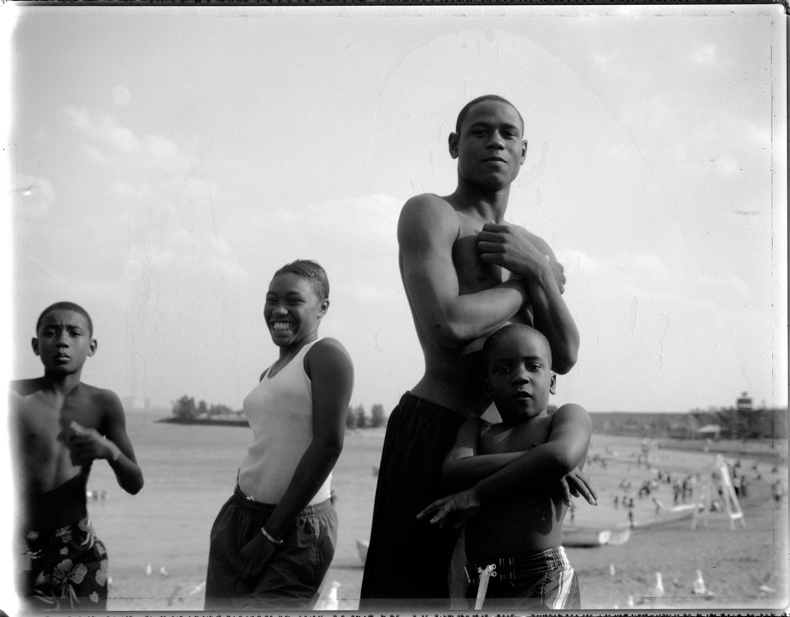 Chicago's lakefront is a frequent hang-out for youth during the summer months, but many young people have never been outside of their neighborhoods,                               let alone to the beaches along the lake. Near South Side, Chicago, 2006.