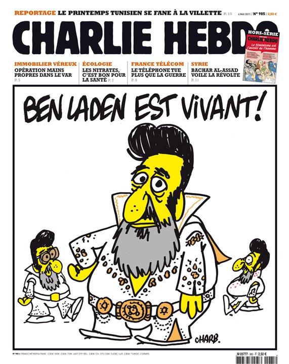 Osama bin Laden in a late Elvis costume.  Bin Laden is alive!