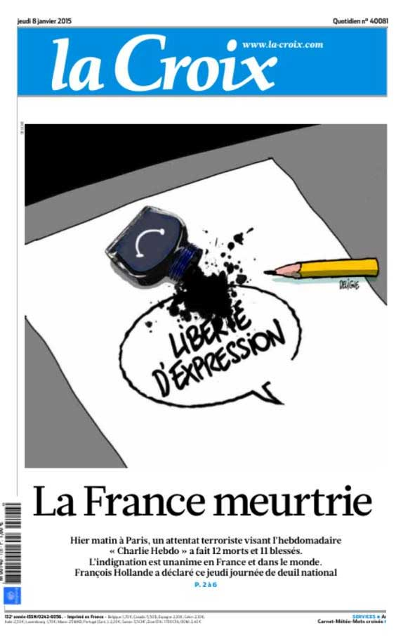 """France is bruised"" / <i>La Croix</i>, France"