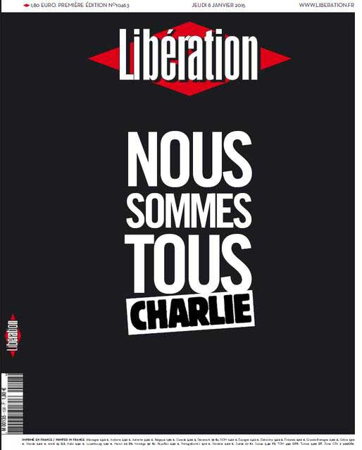 """We are all Charlie"" / <i>Libération</i>, France"