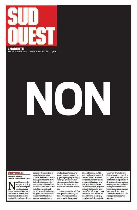 """No"" / <i>Sud Ouest</i>, France"