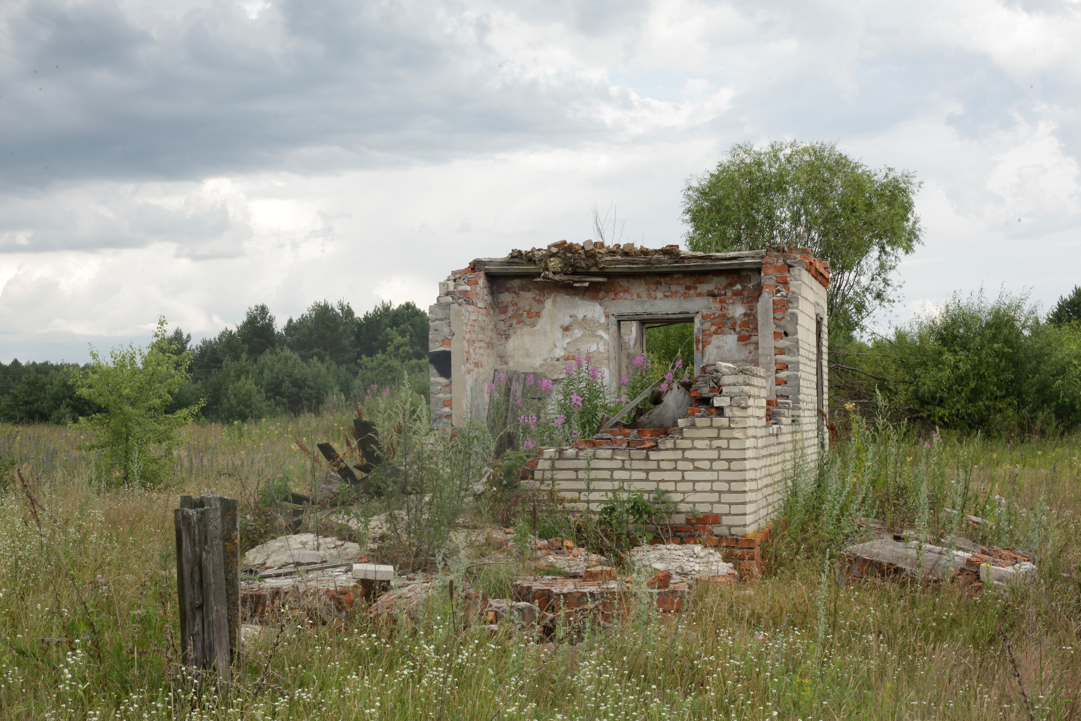 A decayed house in Chernobyl, Belarus on July 9, 2014.