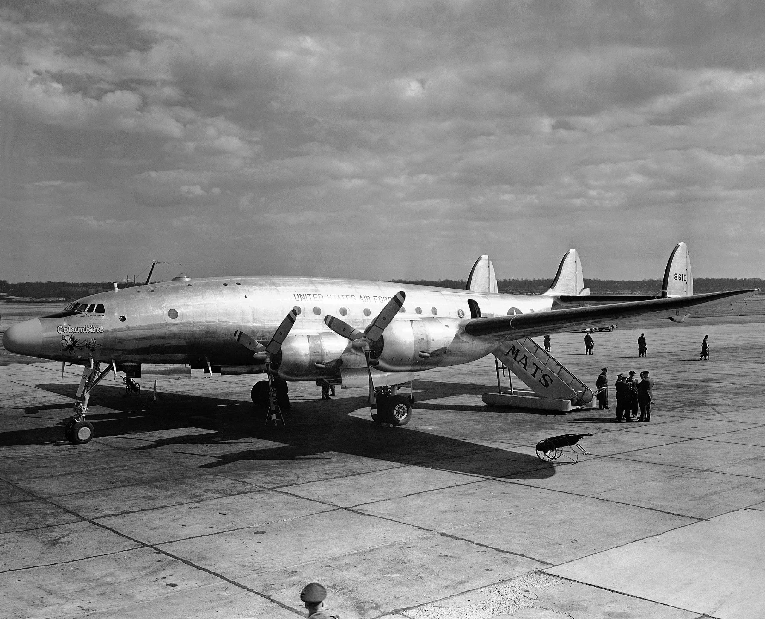 President Eisenhower added <i>Columbine II</i>, a Lockheed C-121 Super Constellation, to the Presidential fleet in 1953.