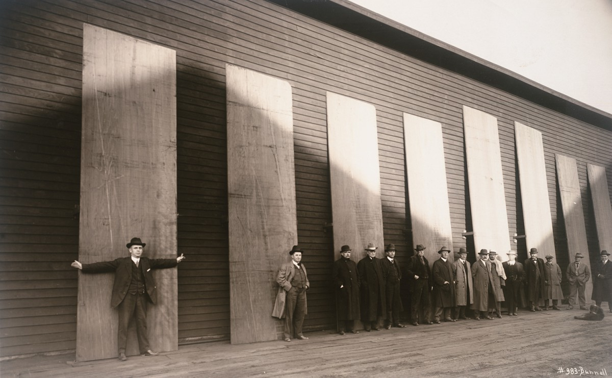 Men With Redwood Planks, ca. 1880