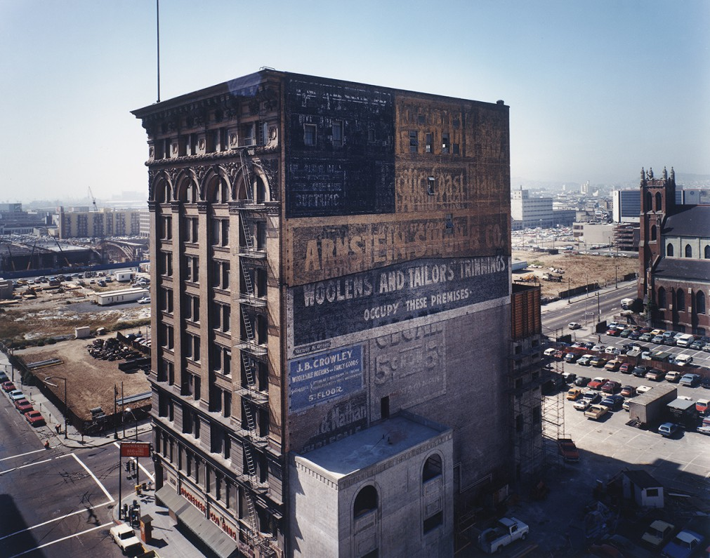 Mercantile Building, c. 1903, with a view toward the Moscone Center construction site, 1980