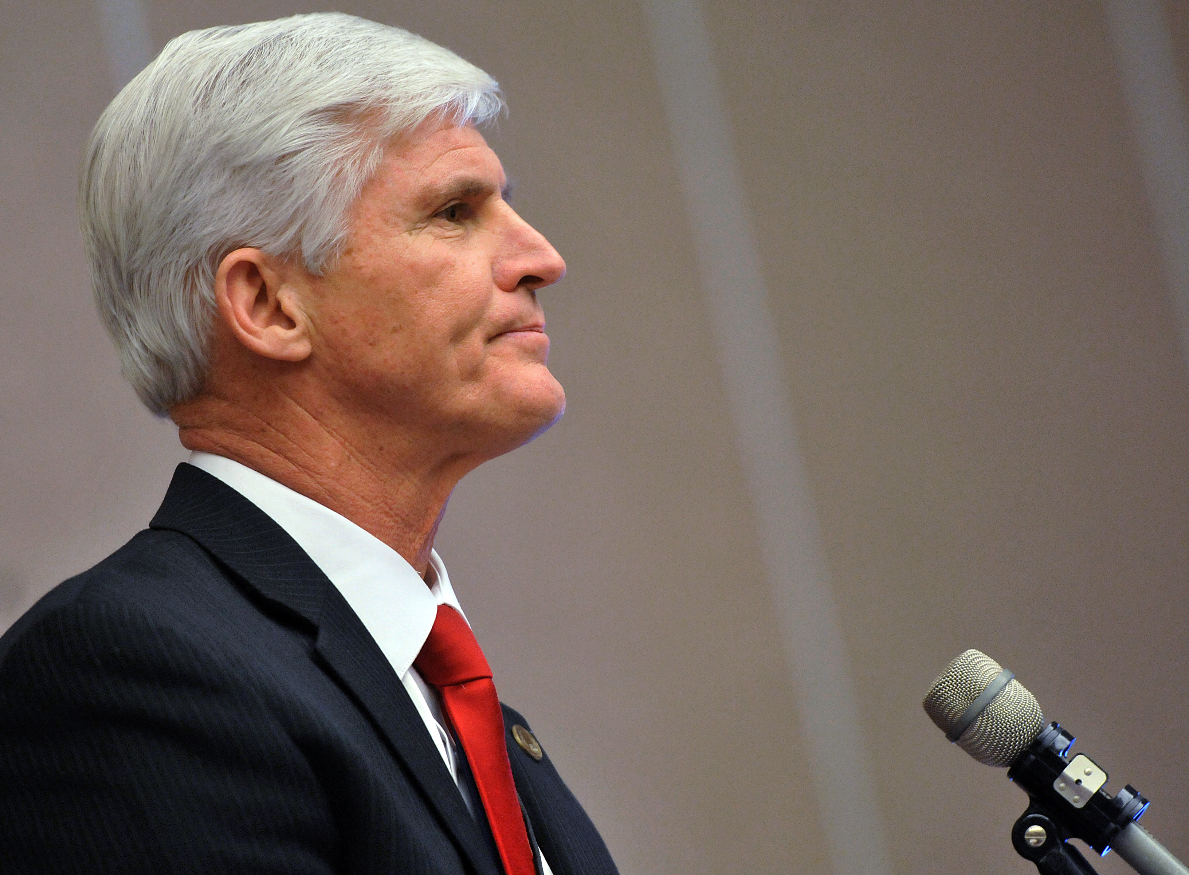 Republican National Committeeman Dave Agema speaks in Lansing, Mich. on Dec. 14, 2013.