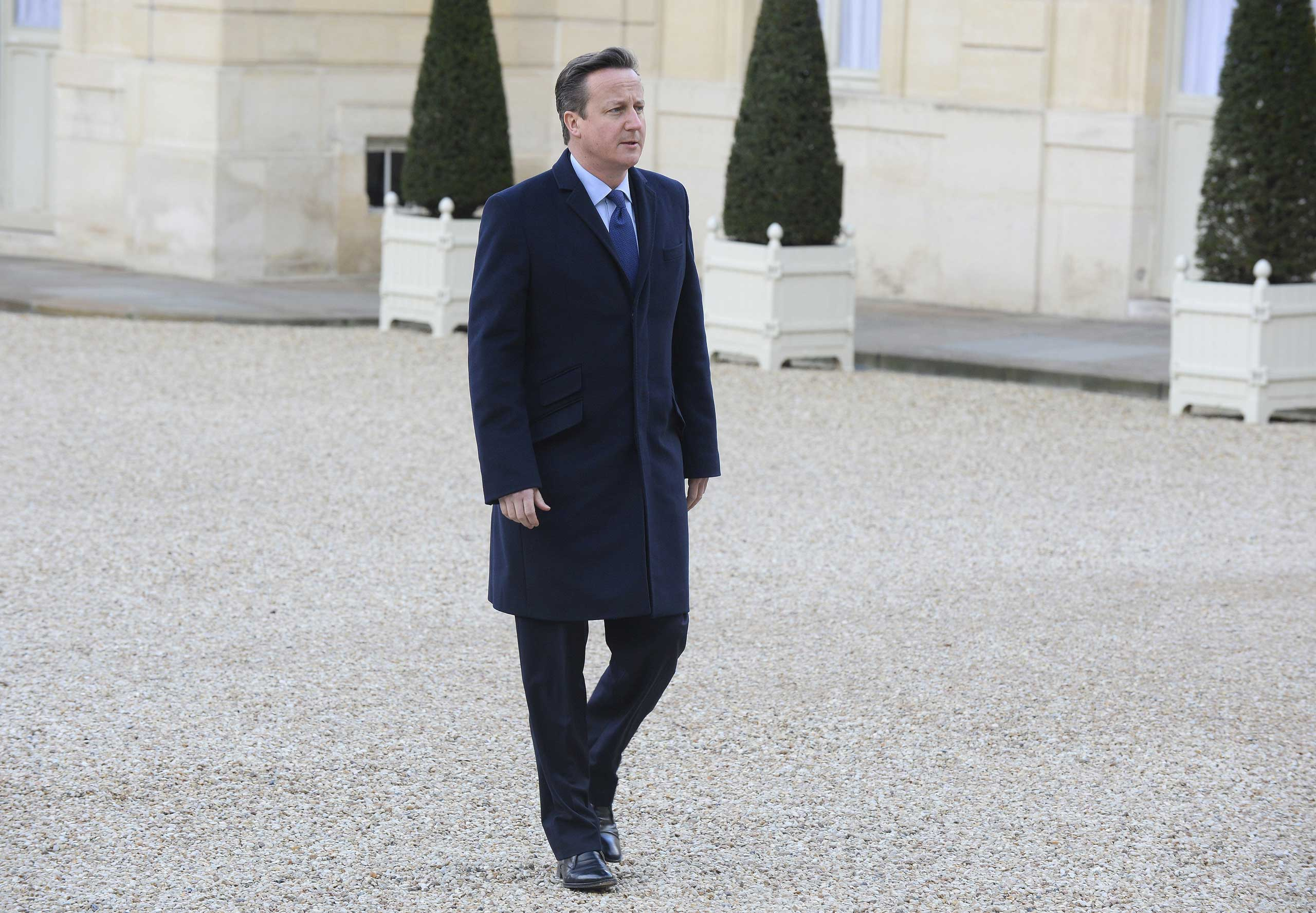 David Cameron in Paris on Jan. 11, 2015.