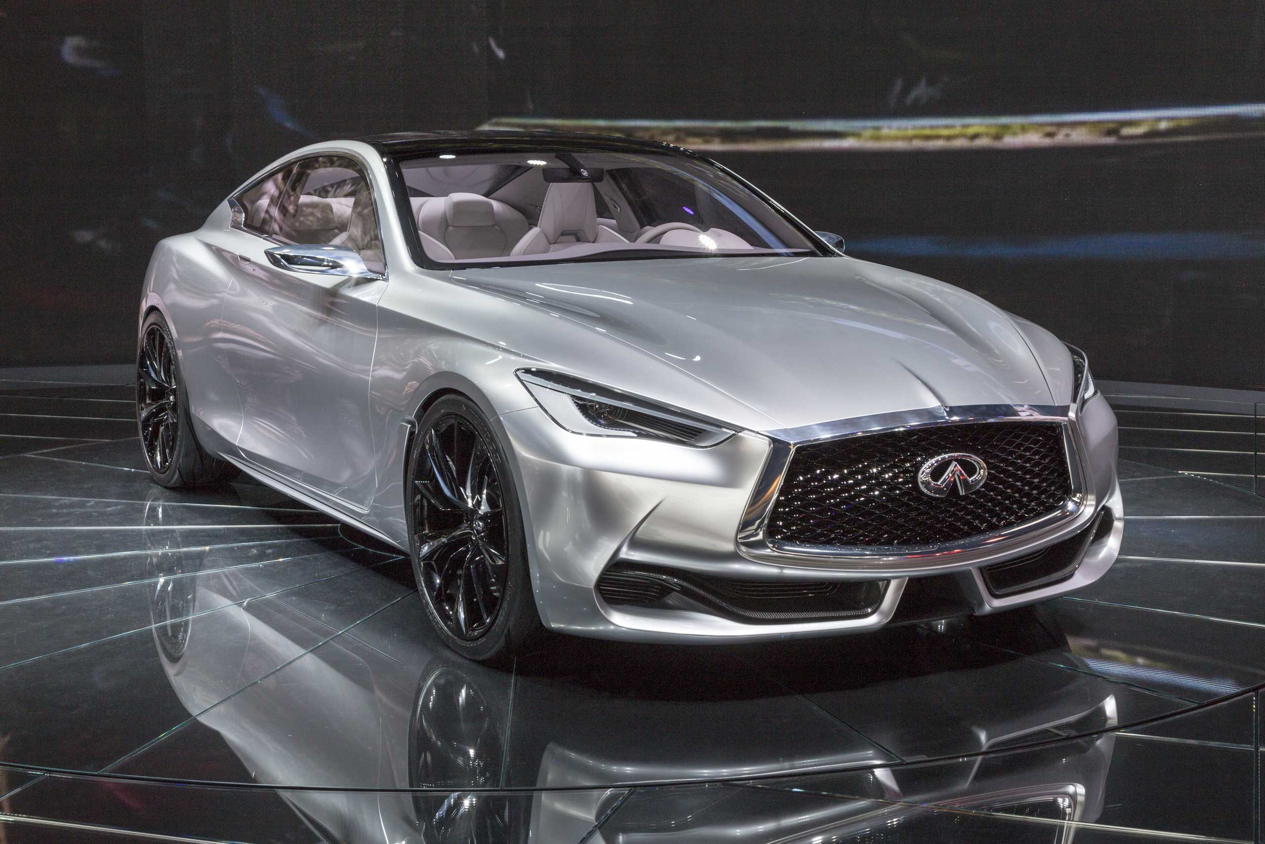 Scheduled for release in 2016, the Infiniti Q60 Coupe will have a turbocharged 3.0-liter V6 in a stunning aluminum body on Jan. 12, 2015 in Detroit.