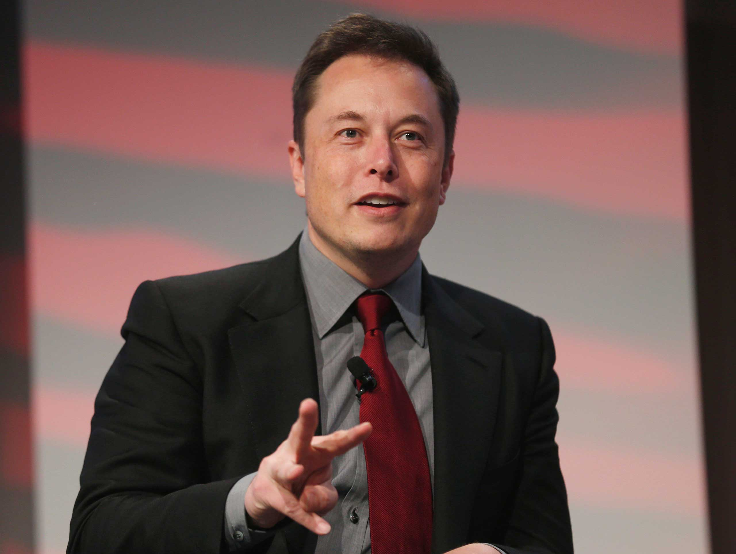 Tesla Motors CEO Elon Musk talks at the Automotive World News Congress at the Renaissance Center in Detroit on Jan. 13, 2015.