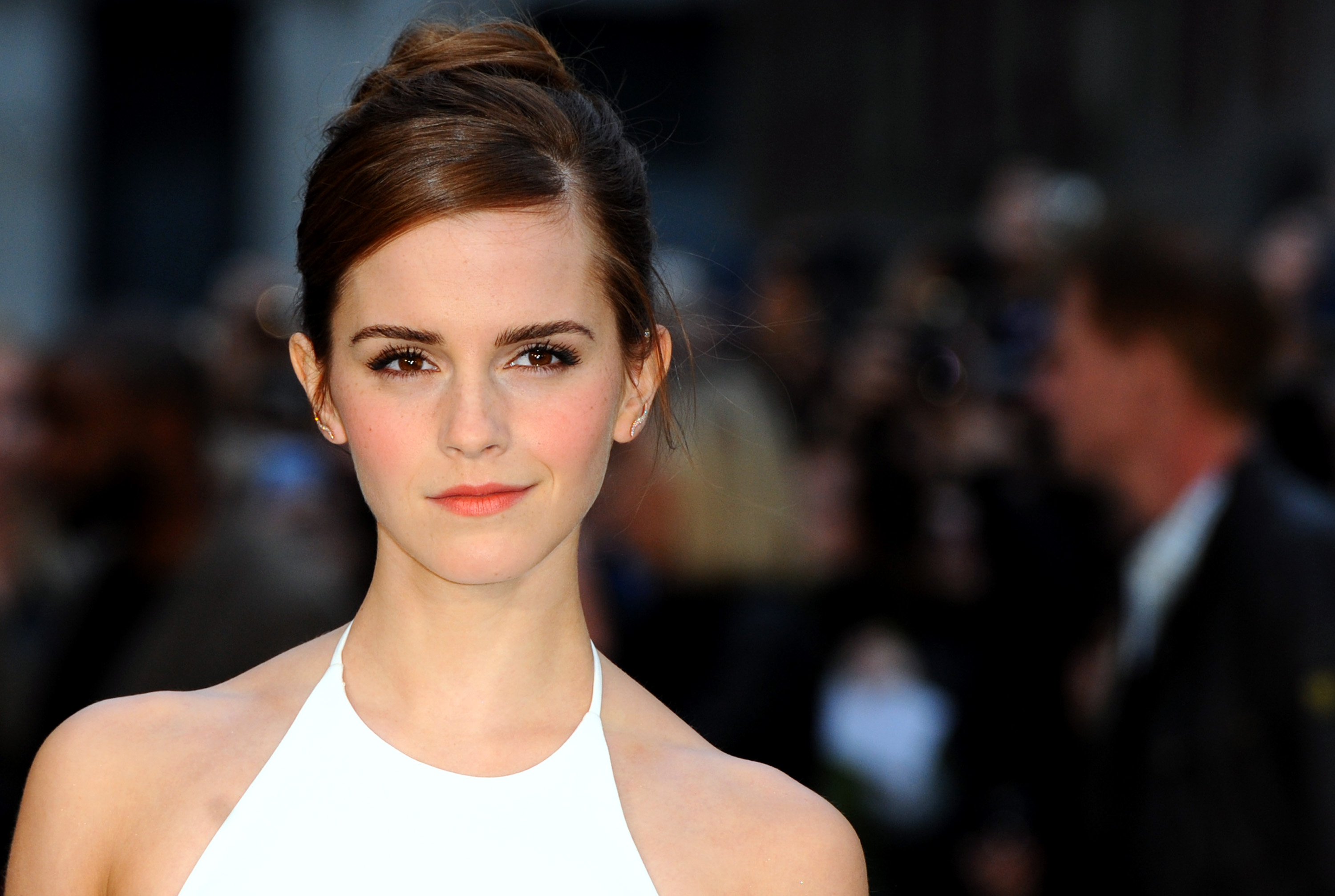 Emma Watson attends the UK premiere of  Noah  at Odeon Leicester Square on March 31, 2014 in London.