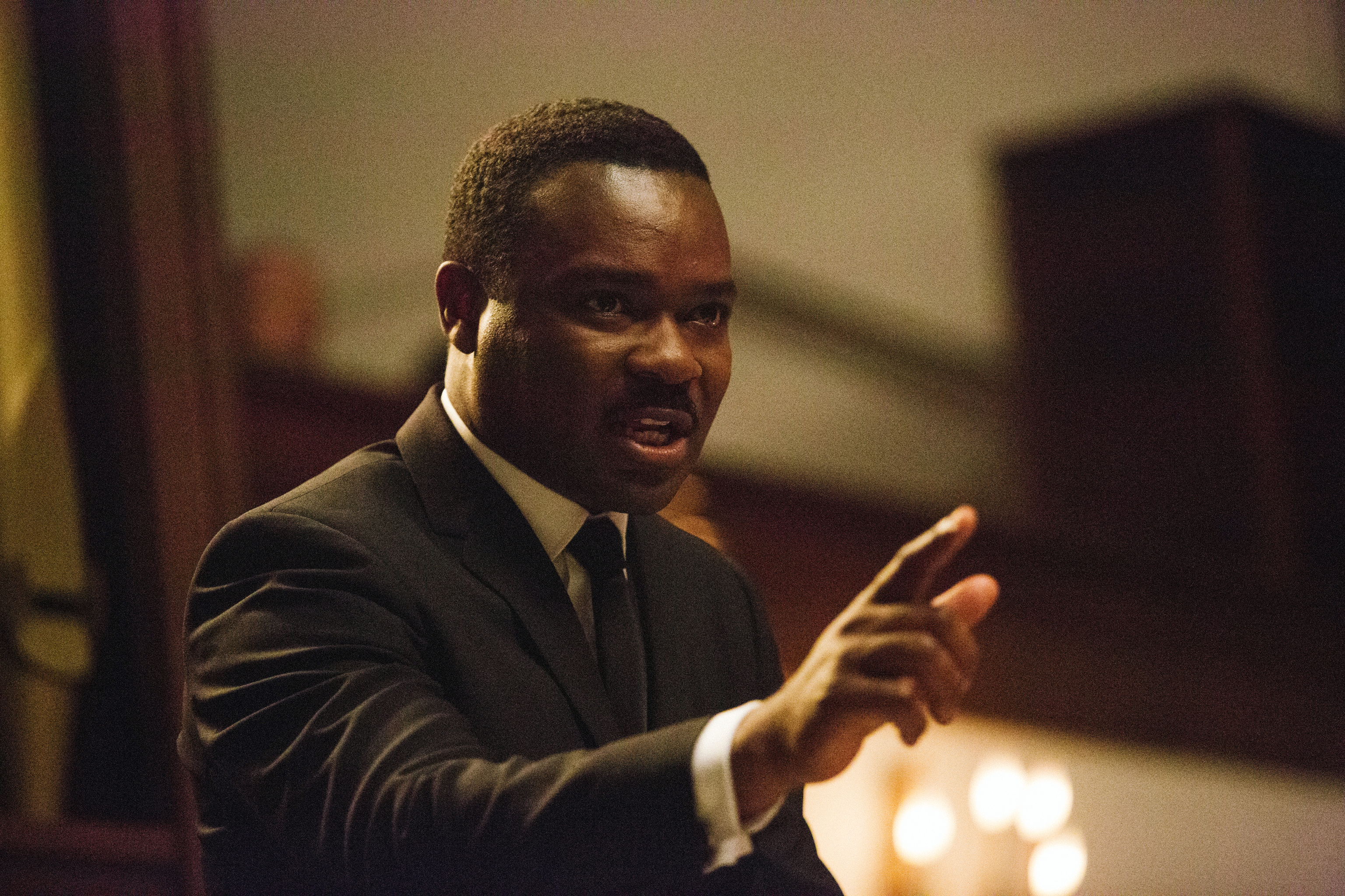 In this image released by Paramount Pictures, David Oyelowo portrays Dr. Martin Luther King, Jr. in a scene from Selma
