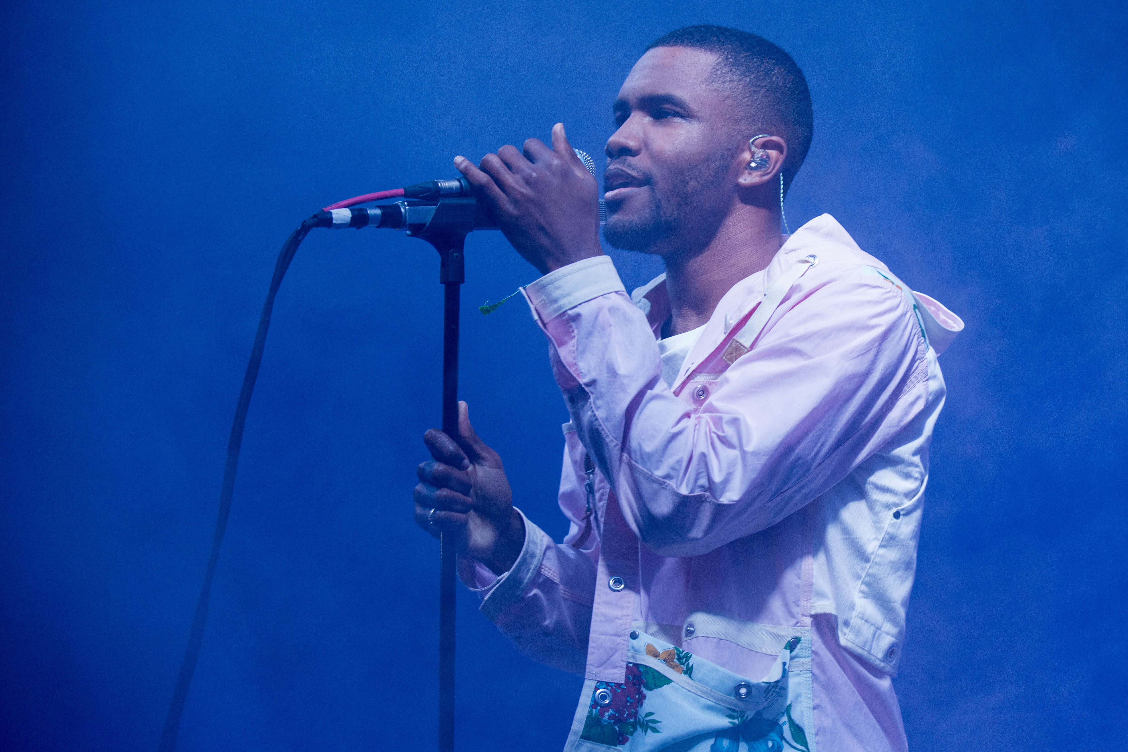Rapper Frank Ocean performs live at the 2014 Bonnaroo Music and Arts Festival in Manchester, Tennessee on June 14, 2014.