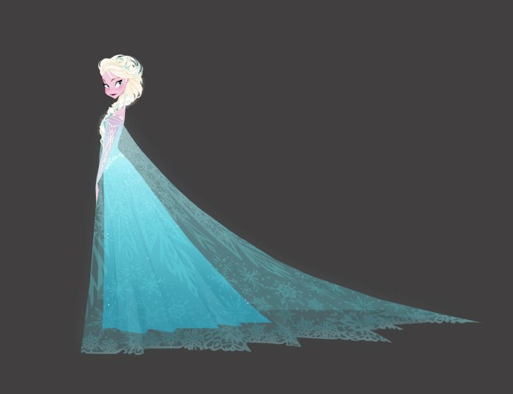 """FROZEN"" Elsa visual development art. ©2013 Disney. All Rights Reserved."