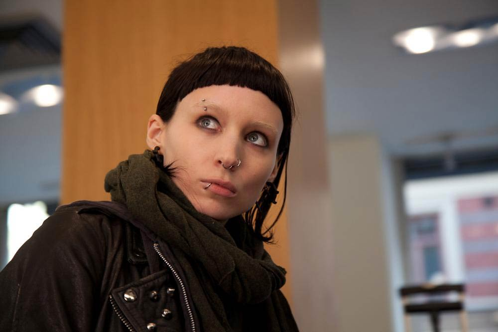 Ronney Mara stars as Lisbeth Salander,  in The Girl With the Dragon Tattoo