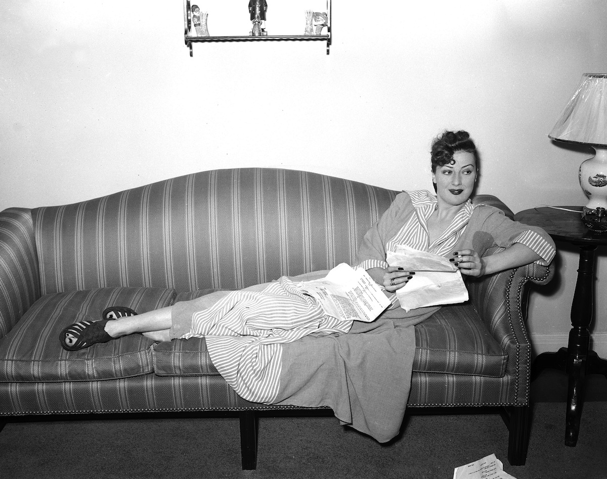 Gypsy Rose Lee at home in New York City on May 7, 1940