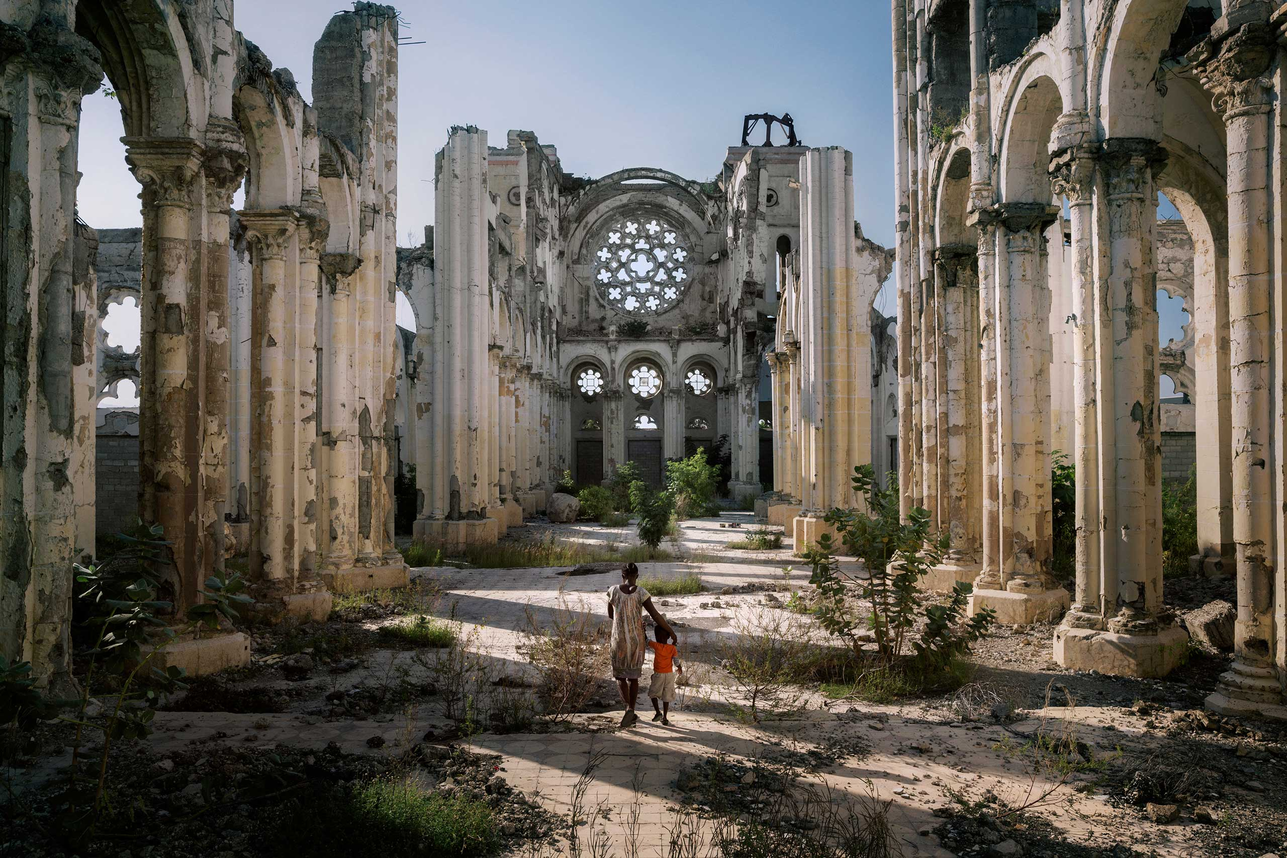 CNN: Five years after the quake: Haiti at a crossroadsThe remains of a cathedral destroyed by the earthquake stand In in the centre of Port Au Prince. No restoration work is planned and the ruins remain a silent witness to the tragedy. Nov. 28, 2014.
