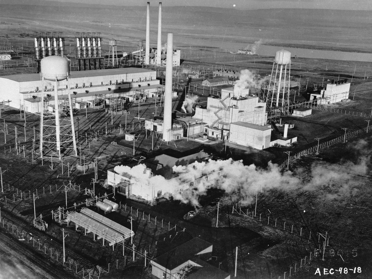 The American Atomic Energy Commision's plutonium production plant at Hanford, Washington, circa 1955