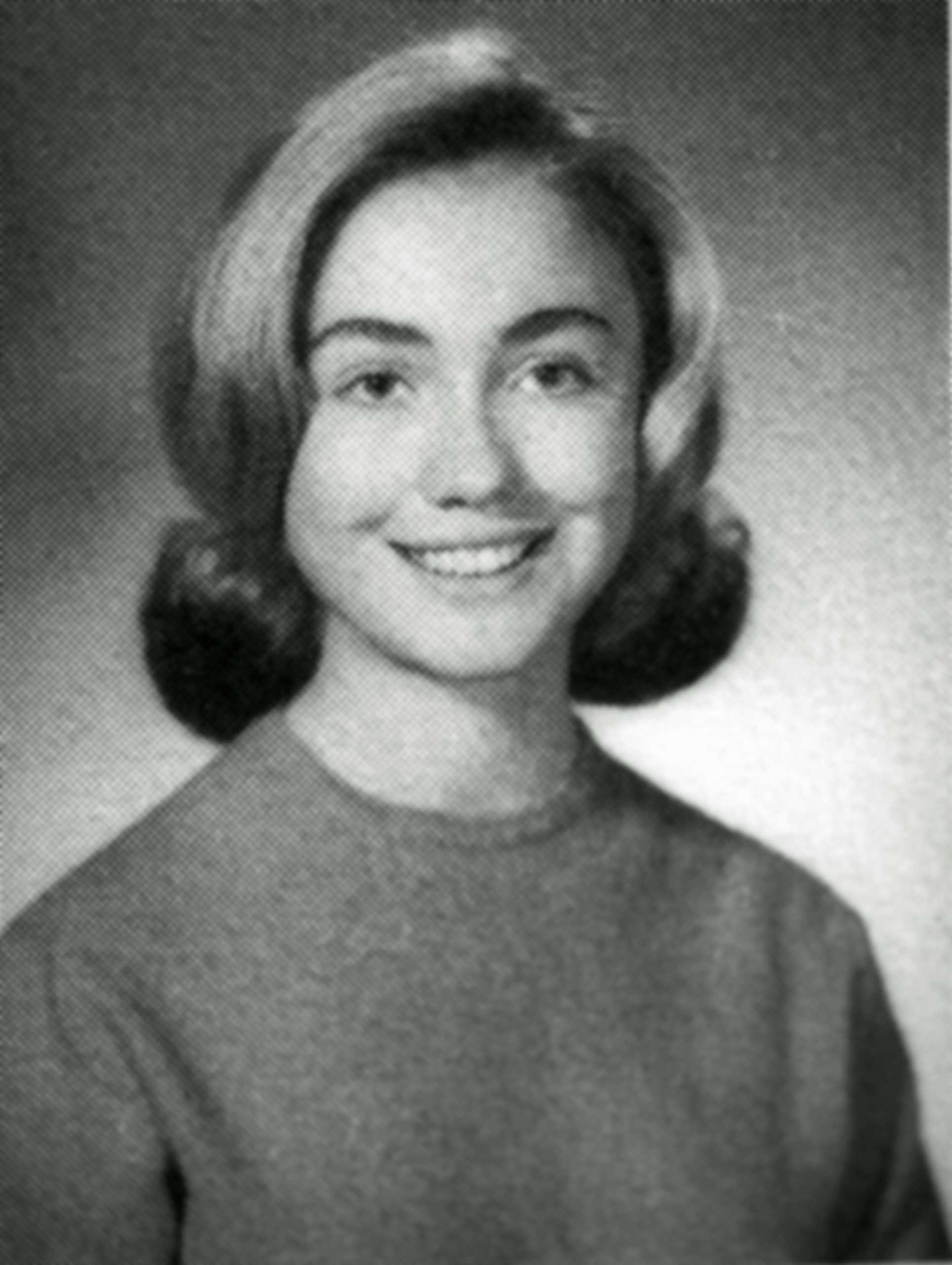 <b>Teenager:</b> Hillary Rodham poses in her 1965 senior class portrait from Park Ridge East High School in Illinois.