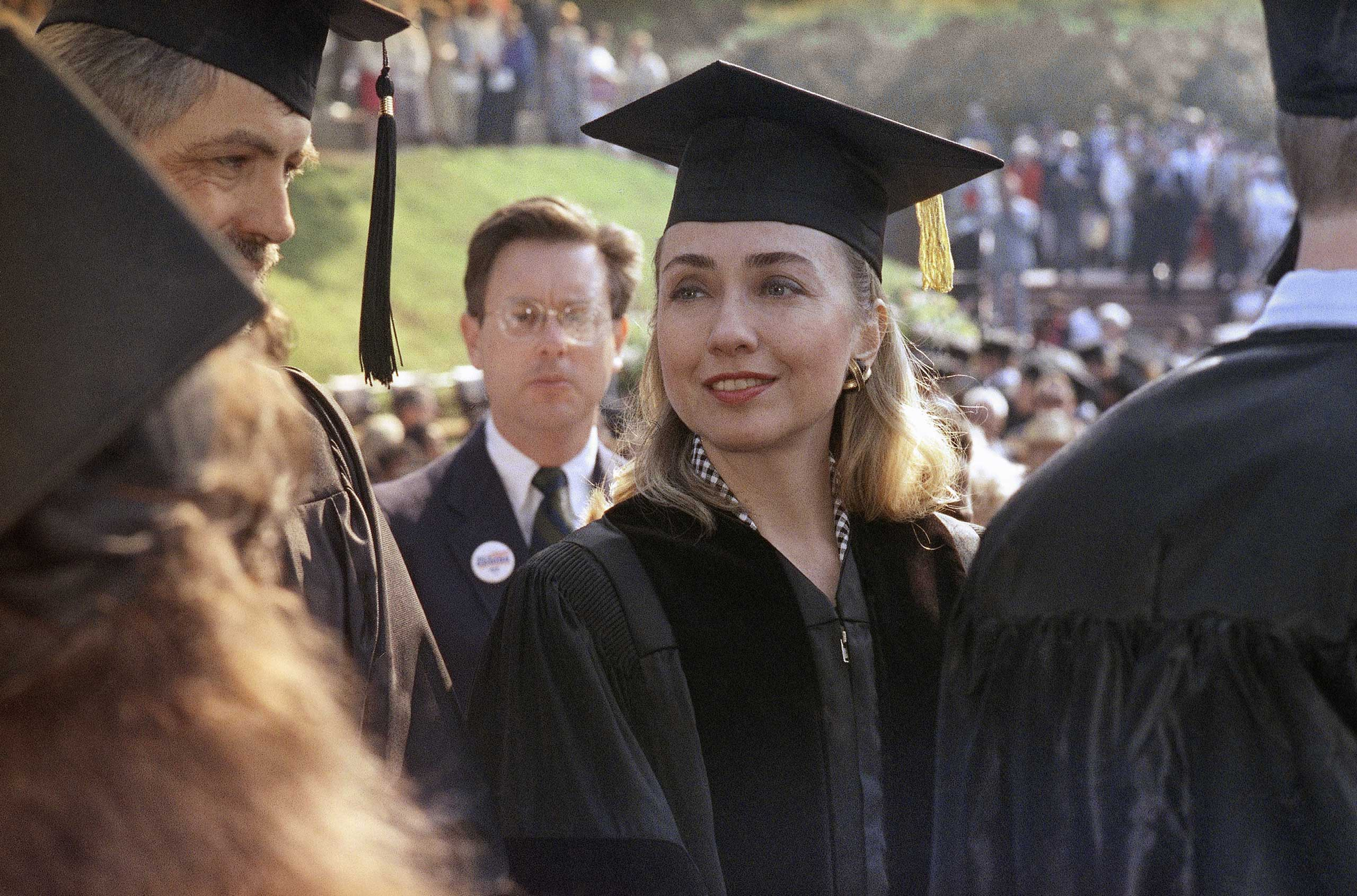 <b>Dignitary:</b> Clinton receives an honorary law degree from Hendrix College in Conway, Ark., on May 30, 1992.
