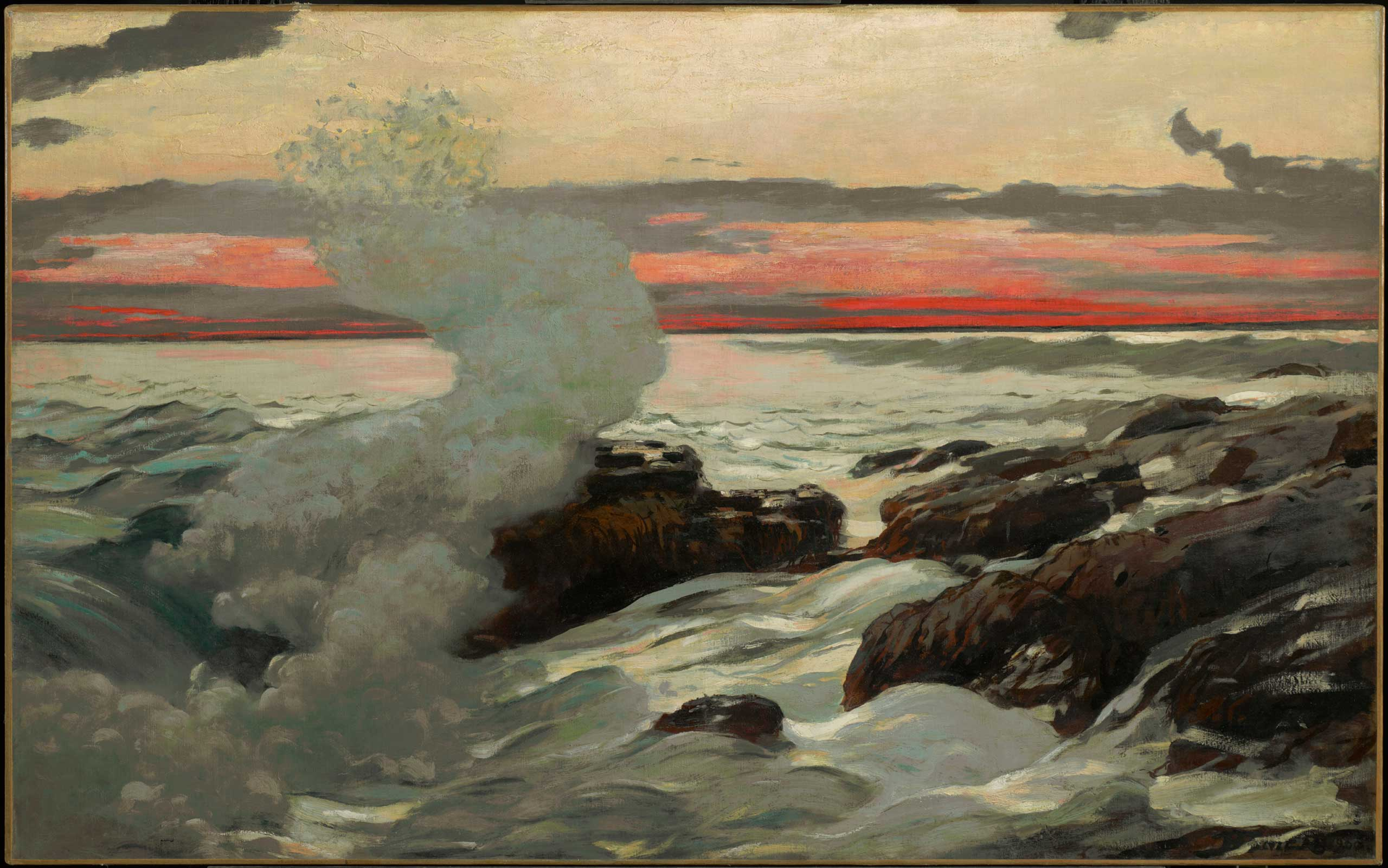 Winslow Homer (American, 1836–1910), West Point, Prout's Neck, 1900. Oil on canvas, 30 1/16 x 48 1/8 in. Clark Art Institute, Williamstown, Massachusetts, 1955.7