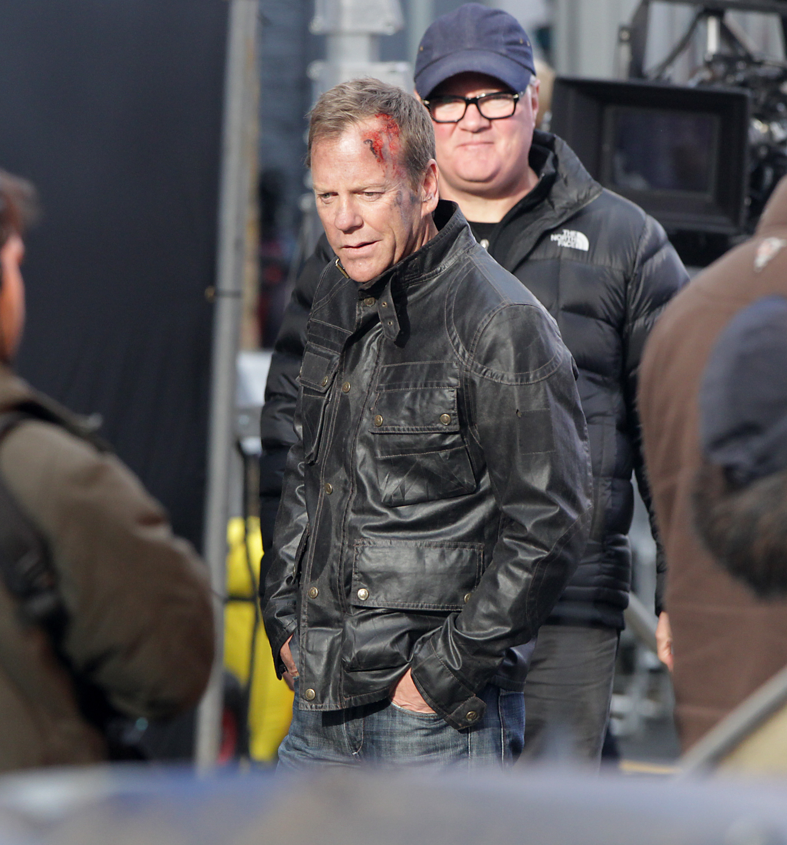Kiefer Sutherland films scenes for 24: Live Another Day in London on Jan. 22, 2014.