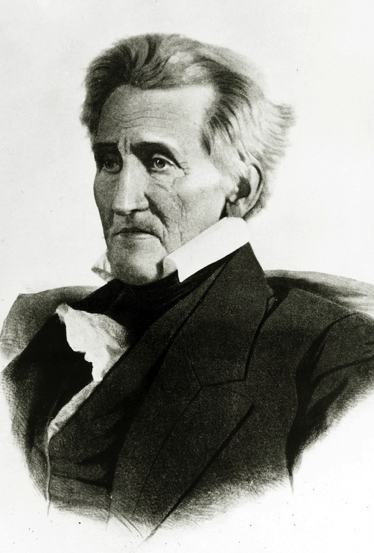 A portrait of Andrew Jackson, circa 1830
