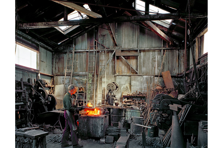 Johnny Ryan, Blacksmith, Klockar's Blacksmith and Metal, 443 Folsom Street