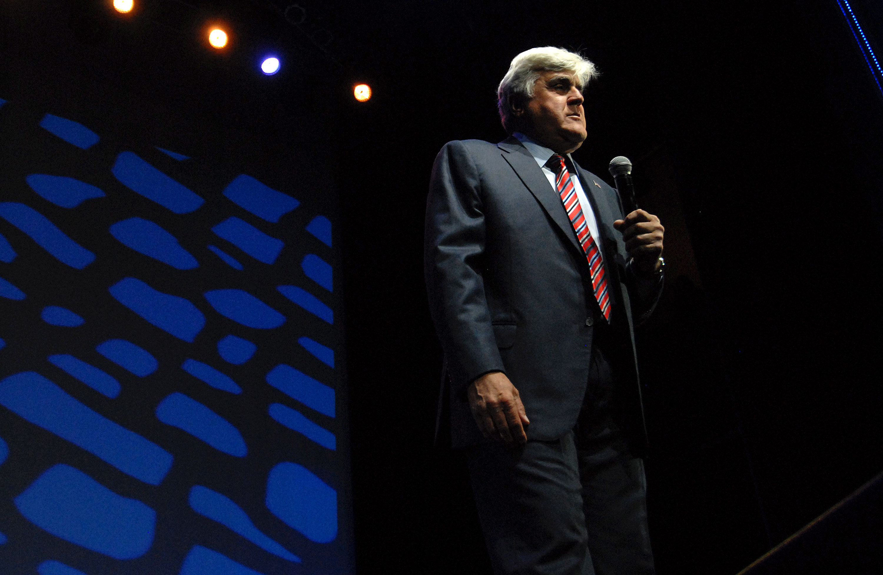 Jay Leno performs at MotorCity Casino's Sound Board Theater on June 7, 2014 in Detroit.