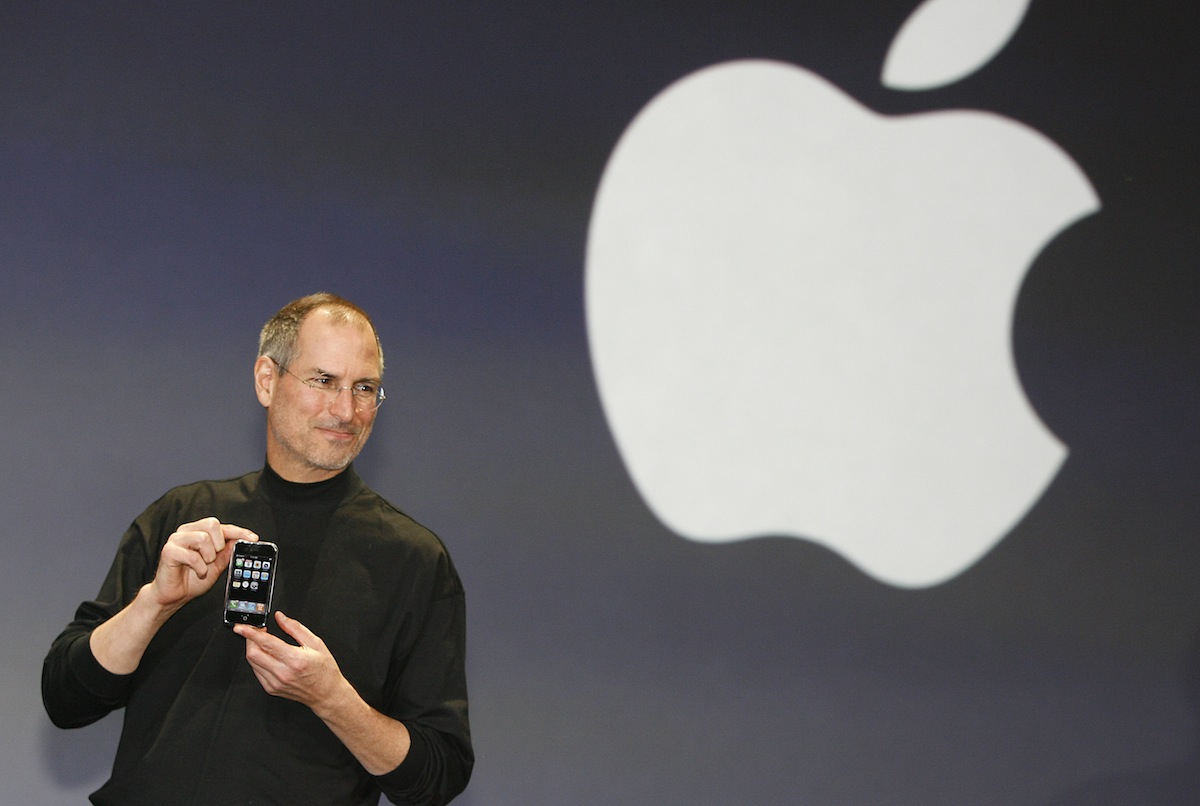 Apple chief executive Steve Jobs unveils a new mobile phone on Jan. 9, 2007 in San Francisco