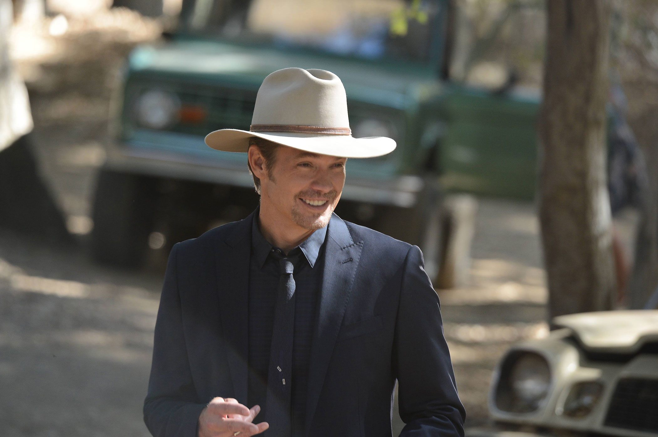 Timothy Olyphant as Deputy U.S. Marshal Raylan Givens in Justified