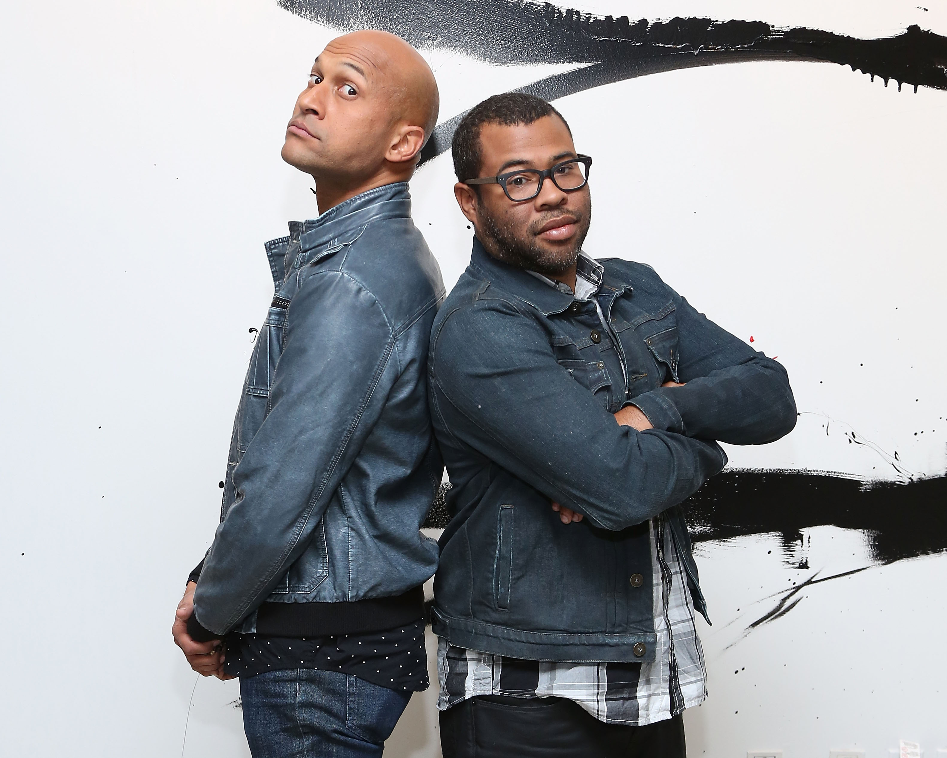 Key & Peele pose for a portrait at AOL Studios before a talk from AOL's BUILD Series on Oct. 10, 2014 in New York City.