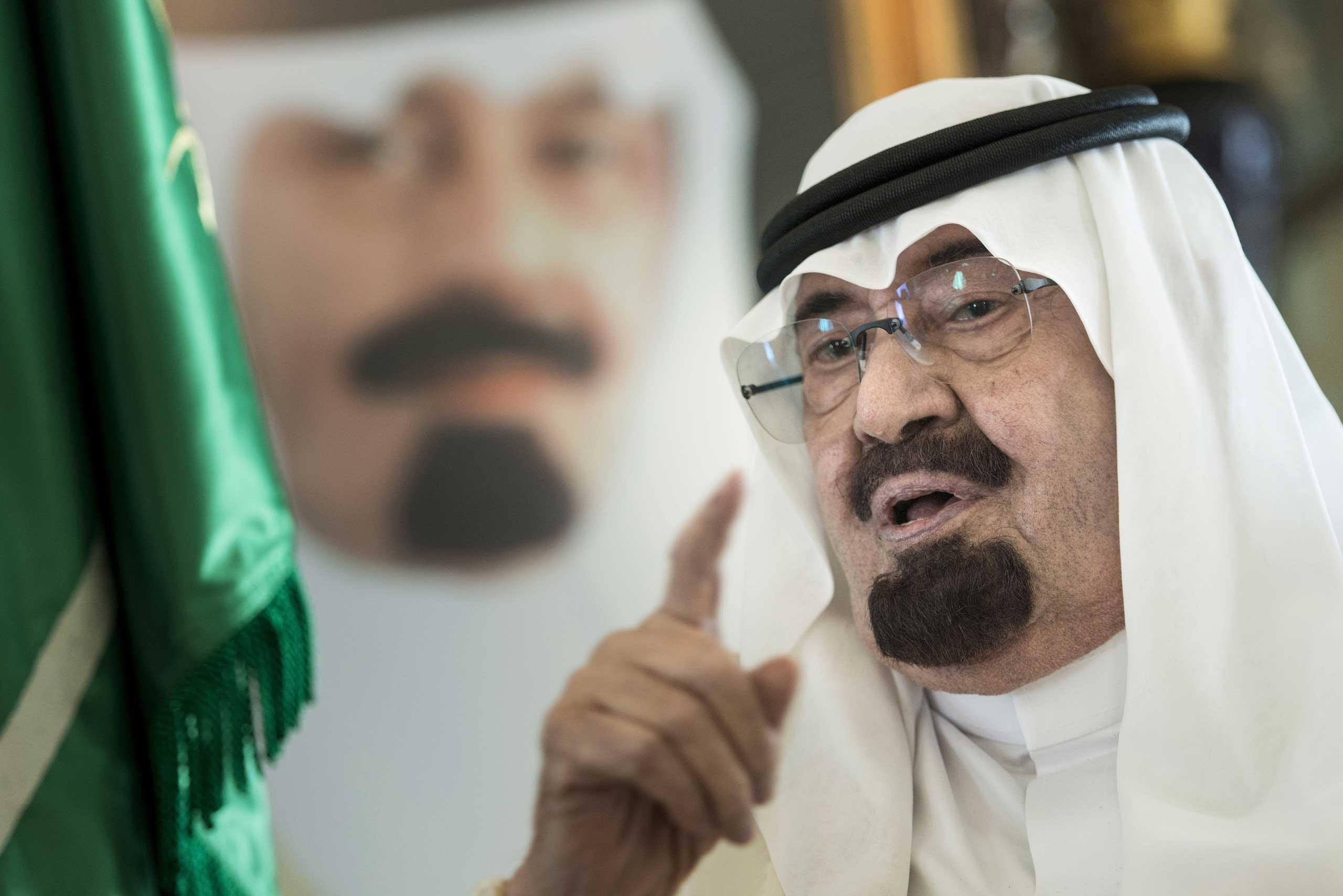 Saudi King Abdullah in 2014.