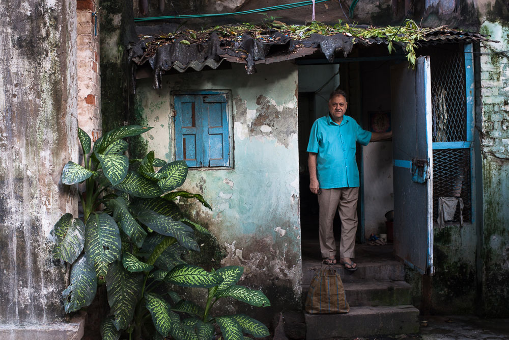 Mortecai Cohen, 72, spent his career as a broadcaster for Radio Pakistan in present-day Bangladesh. He is one of the remaining members of this community, pictured here at his home in August 2014.