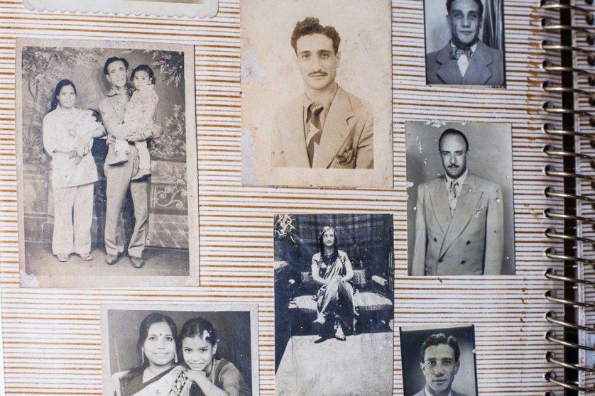Shalom Israel's family photographs.