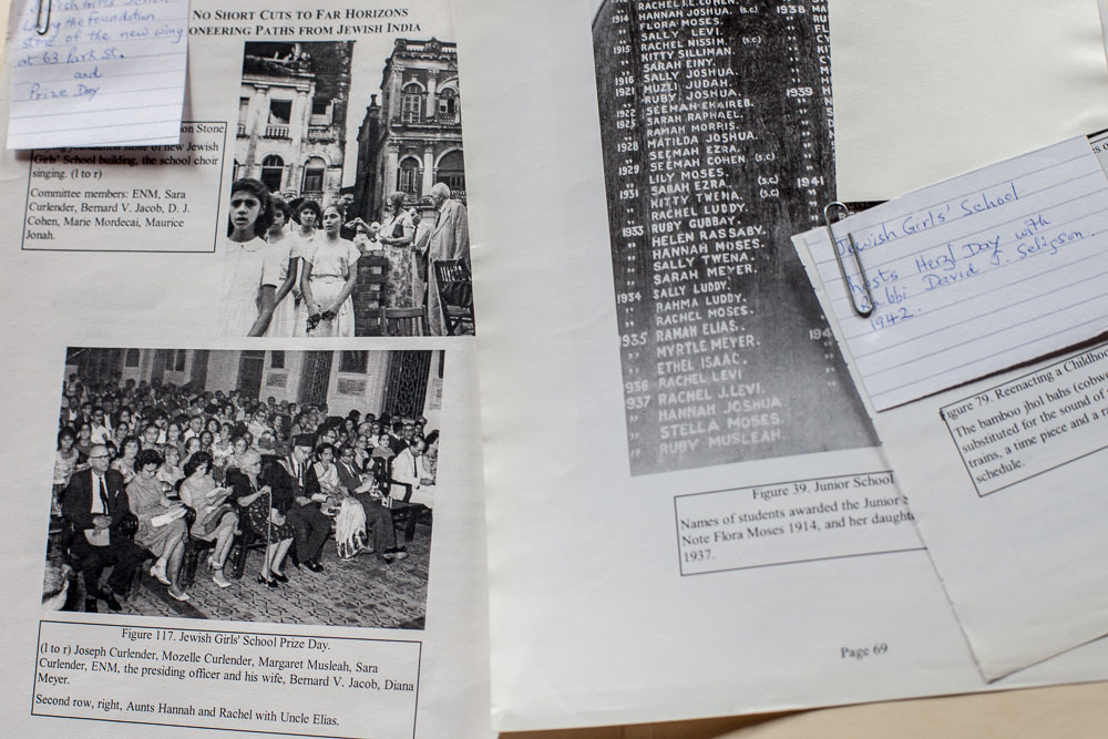Historical photographs and documents of the Jewish Girls' School.