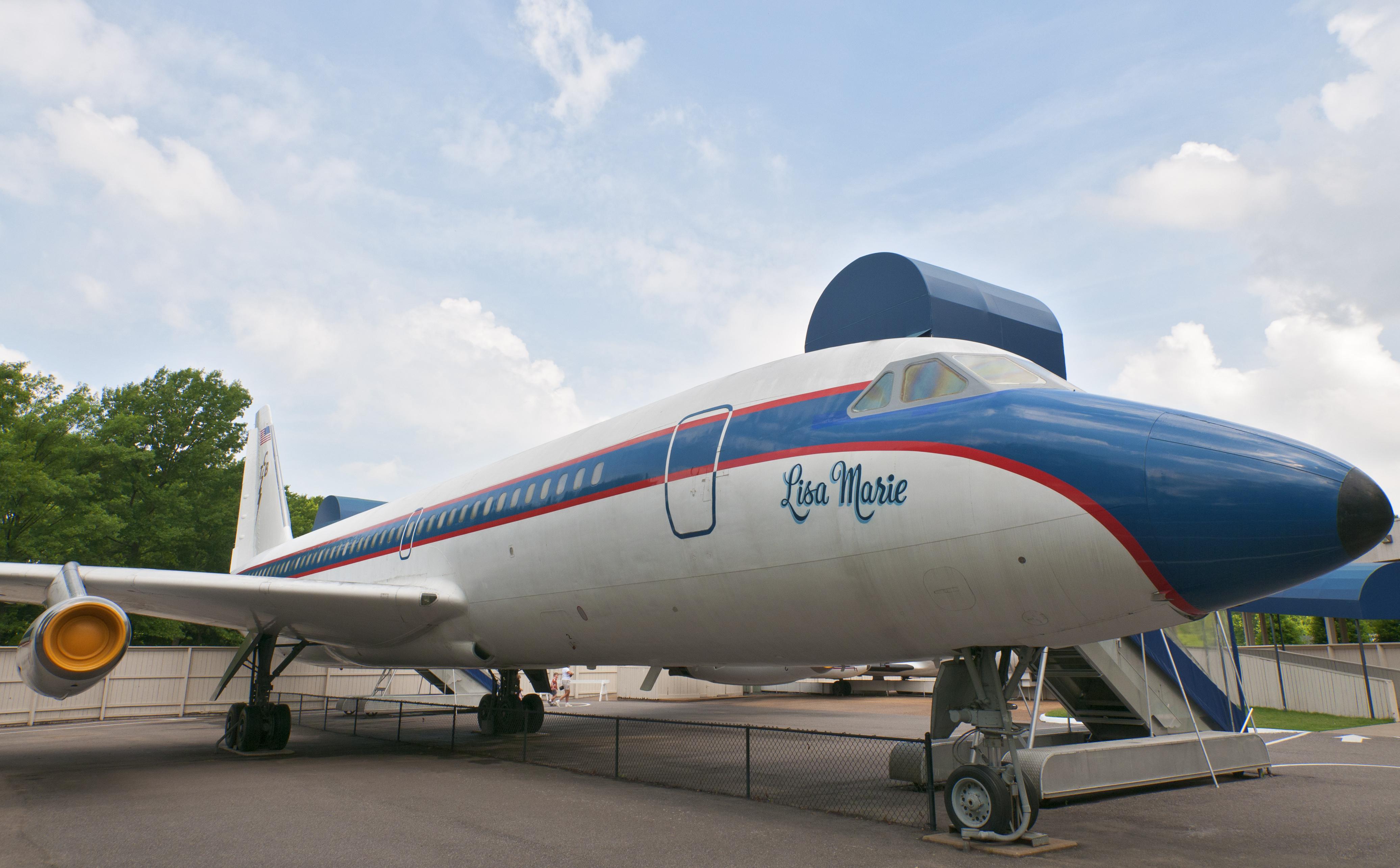 Elvis Presley's Graceland, Elvis' private jet named after his daughter Lisa Marie.