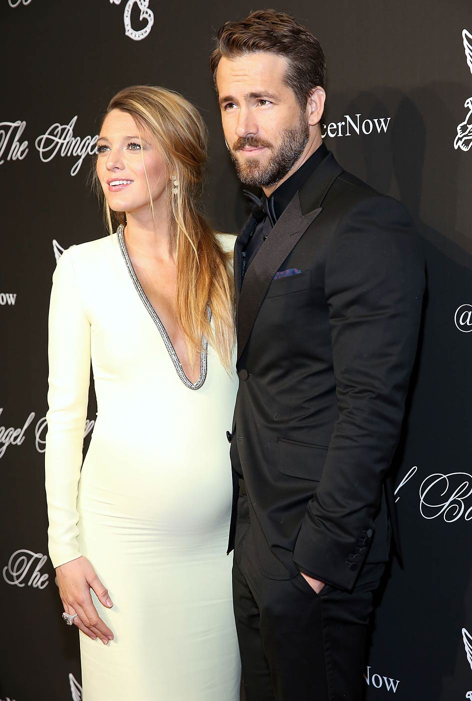 Actors Blake Lively and Ryan Reynolds attend Angel Ball 2014 at Cipriani Wall Street on October 20, 2014 in New York City.