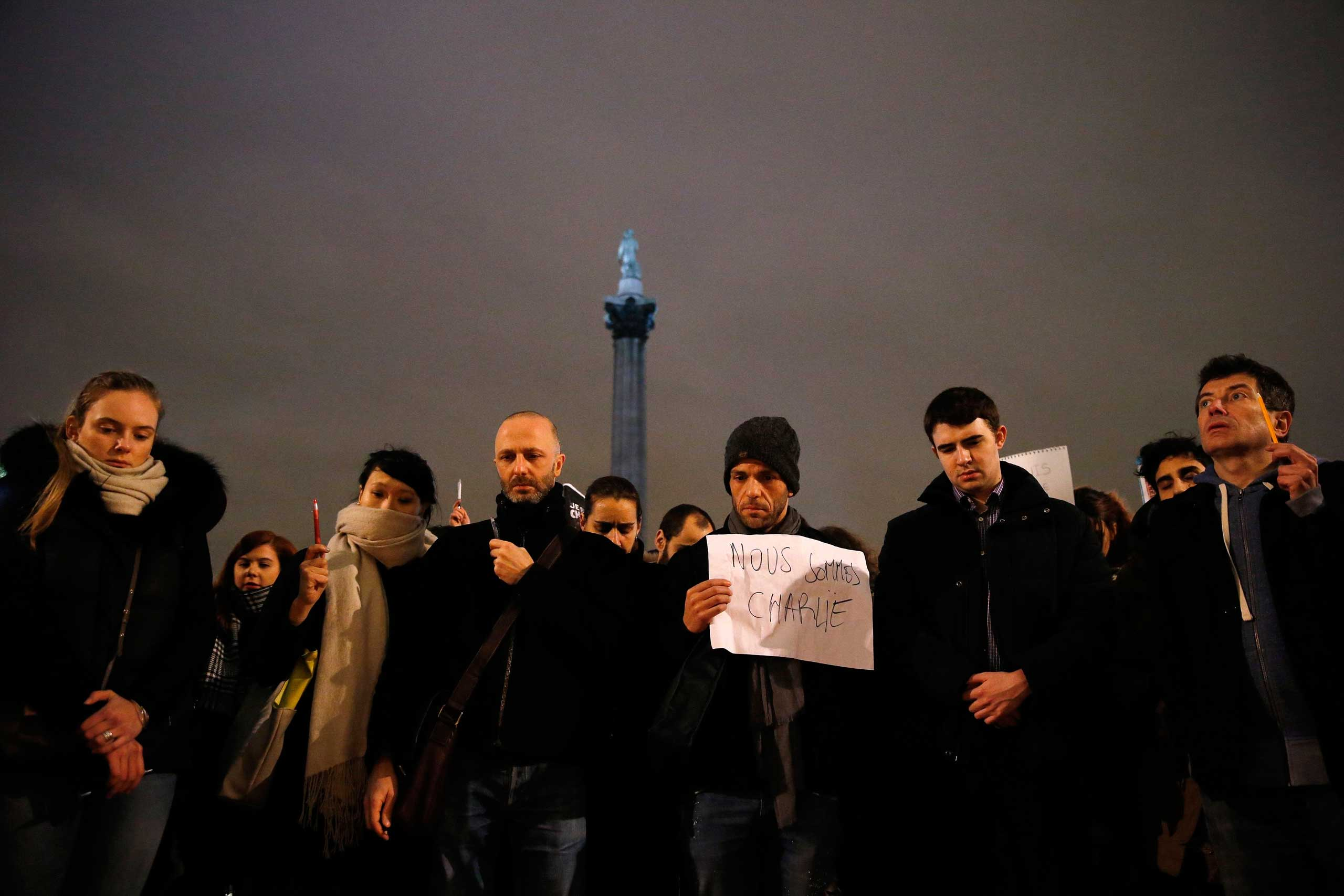 London Crowds Show Solidarity With Charlie Hebdo Time