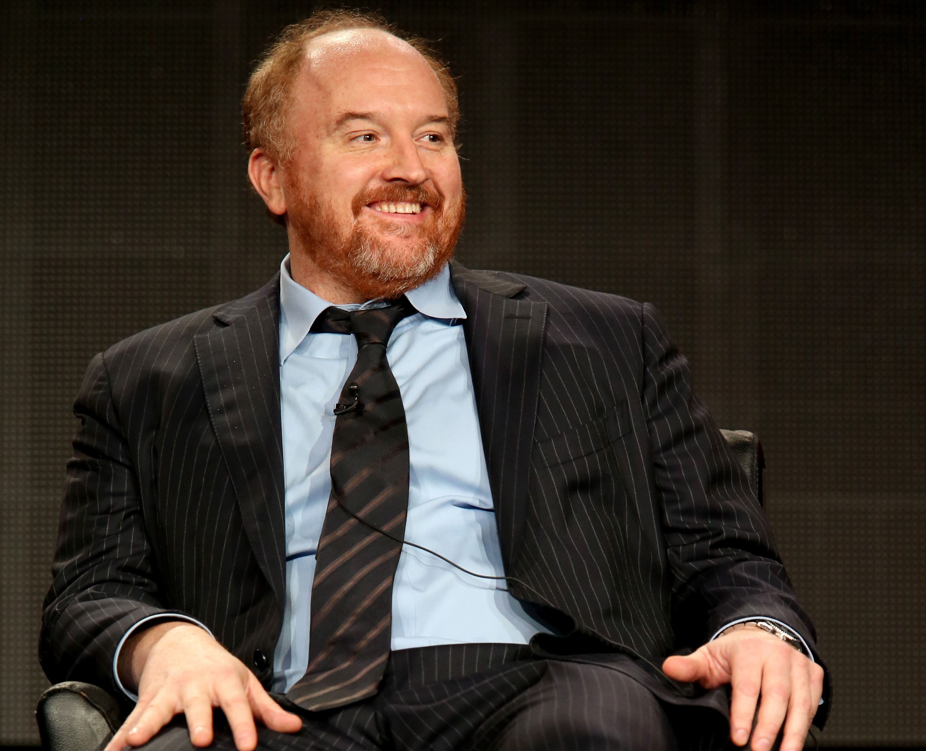 Actor Louis C.K. speaks during the Louie panel discussion of the Television Critics Association press tour on Jan. 18, 2015 in Pasadena, California.