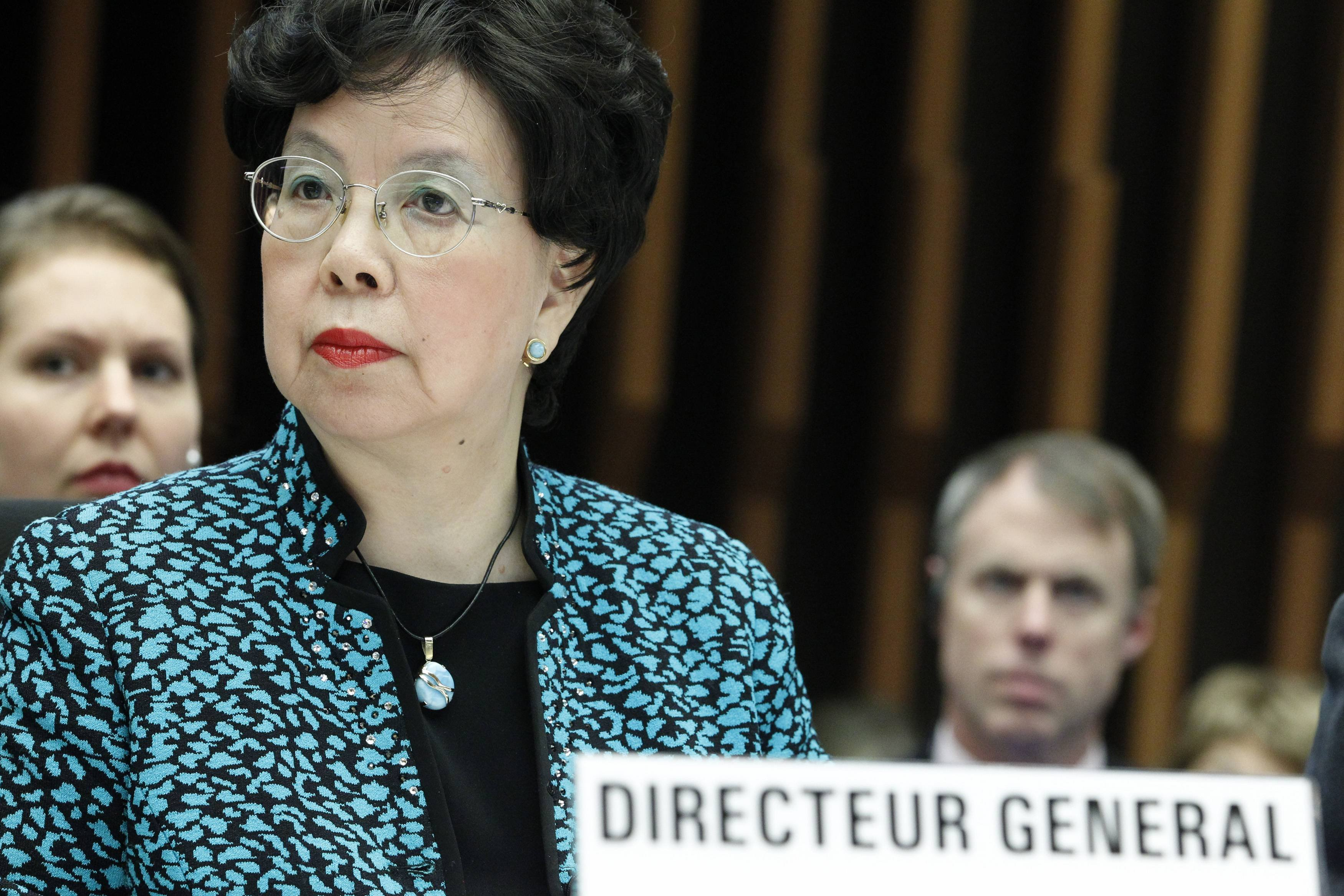 World Health Organization (WHO) Director-General Margaret Chan addresses the media during a special meeting on Ebola at the WHO headquarters in Geneva on Jan. 25, 2015.
