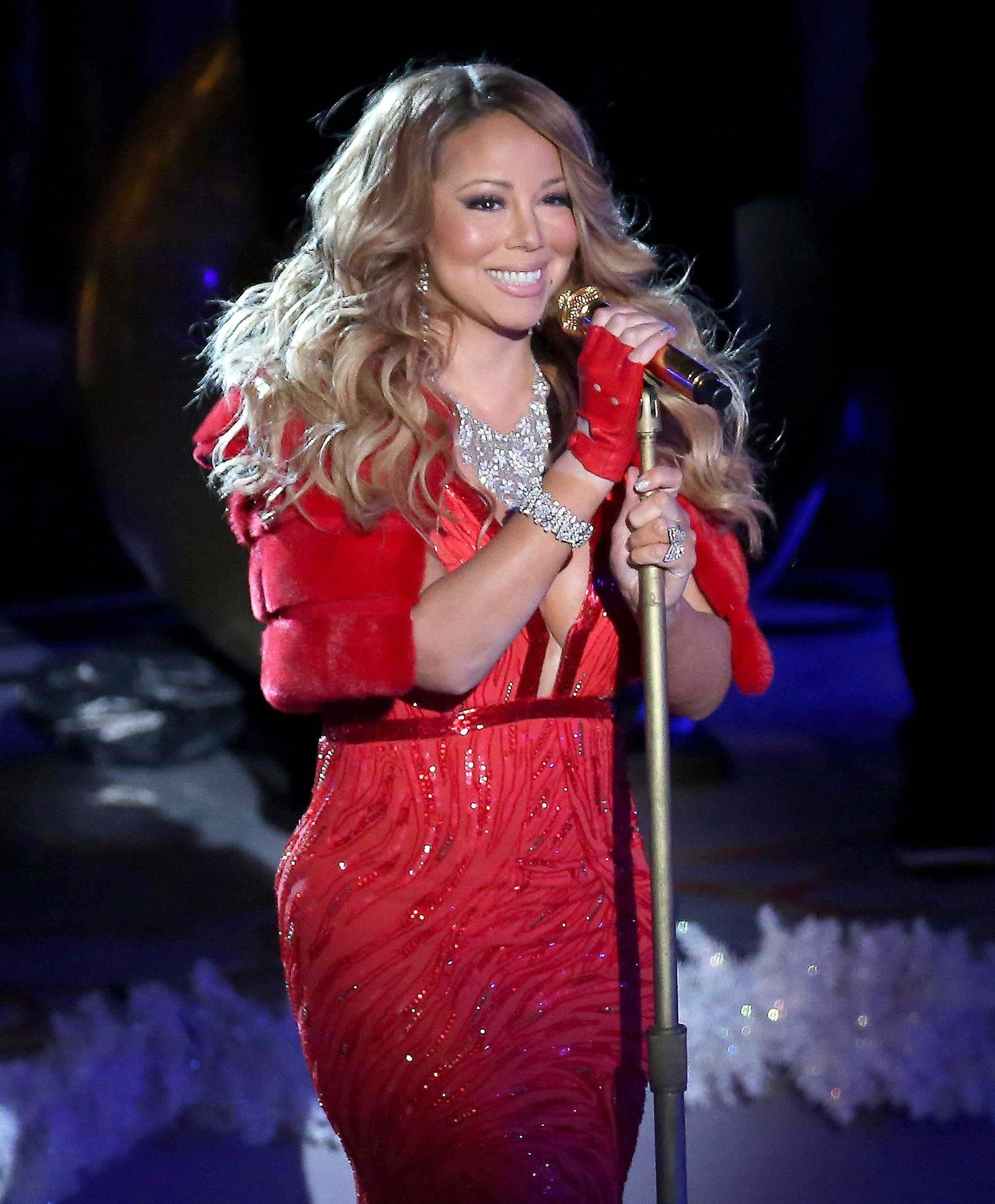 Singer Mariah Carey performs at the 82nd Annual Rockefeller Center Christmas Tree Lighting in New York City on Dece. 3, 2014.
