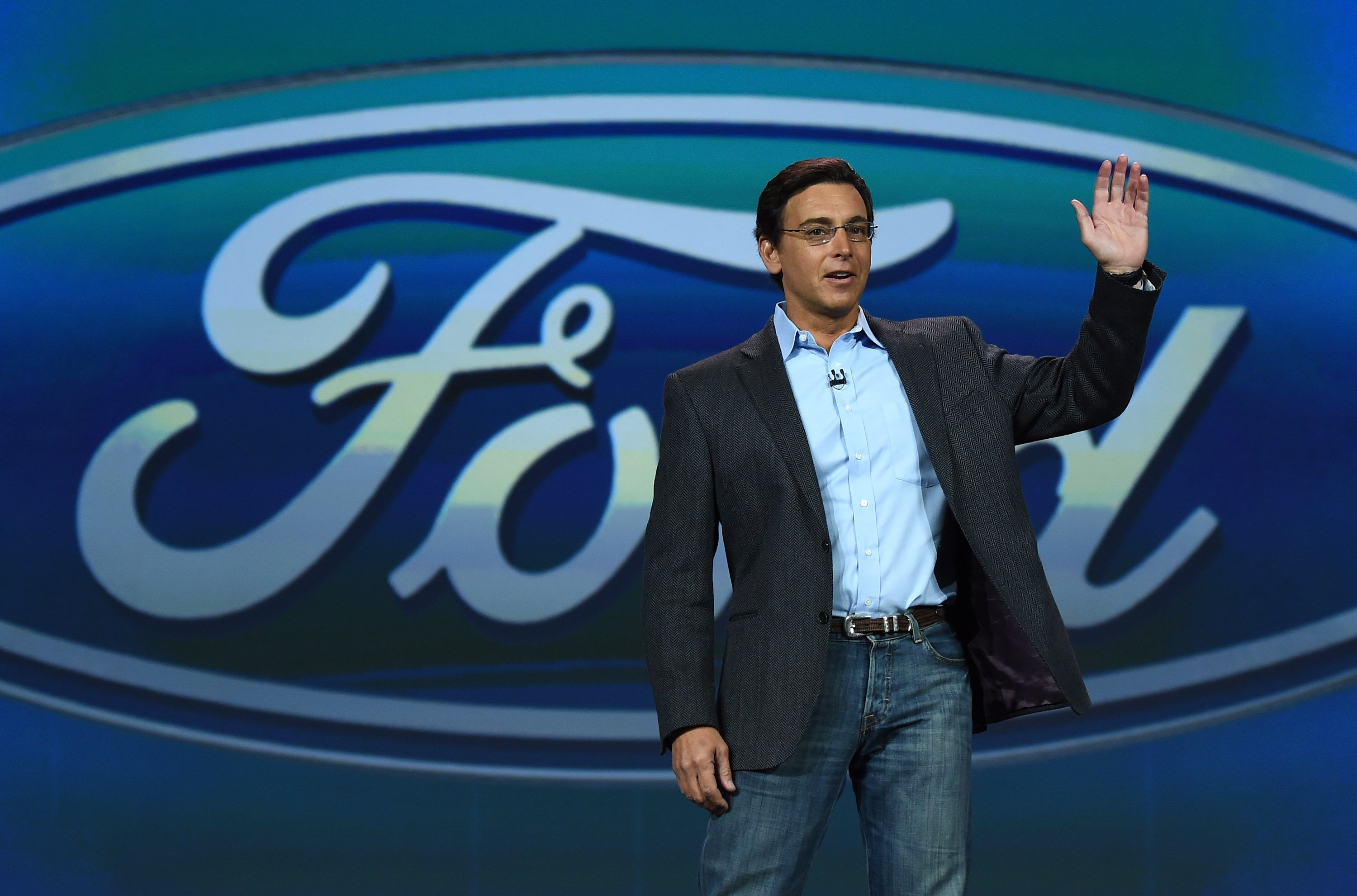 President and CEO of Ford Motor Co. Mark Fields delivers a keynote address at the 2015 International CES at The Venetian Las Vegas on Jan. 6, 2015 in Las Vegas,