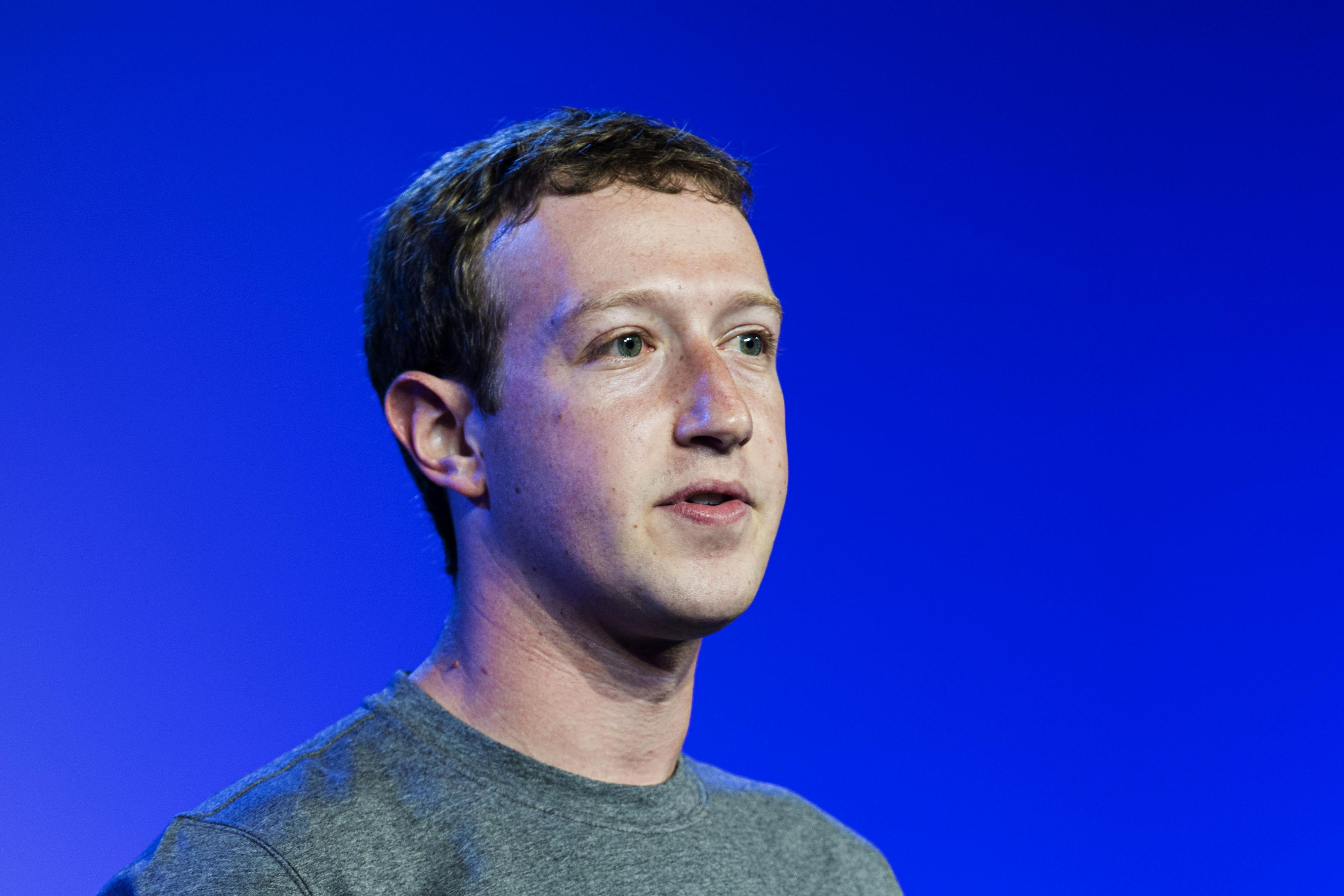 Mark Zuckerberg CEO of Facebook speaks during the Internet.org summit in New Delhi on Oct. 9, 2014.