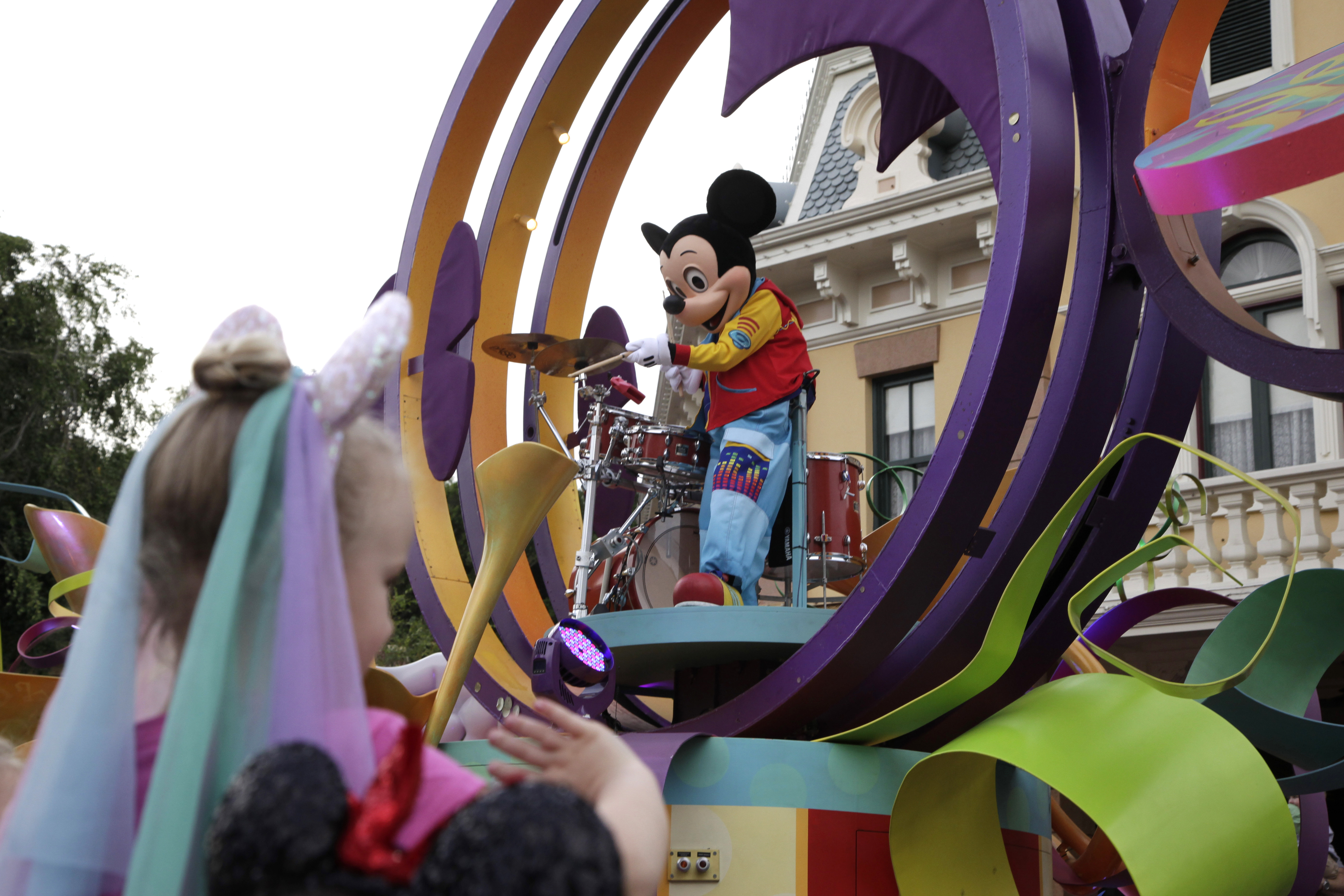 Mickey Mouse performing during a parade at Disneyland in Anaheim, Calif., Jan. 22, 2015.