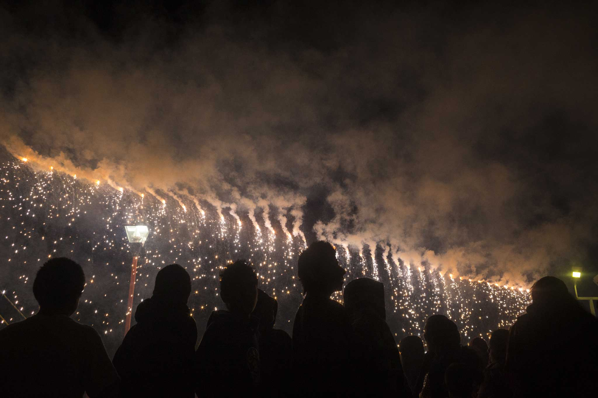 National Geographic PROOF: Sarah Lewkowicz on her internship experience at the magazinePeople gather to watch a fireworks display at the end of the evening entertainment during La Fiesta de la Preciosa Sangre, the most important festival of the year for the town of Teotitlan, Mexico.