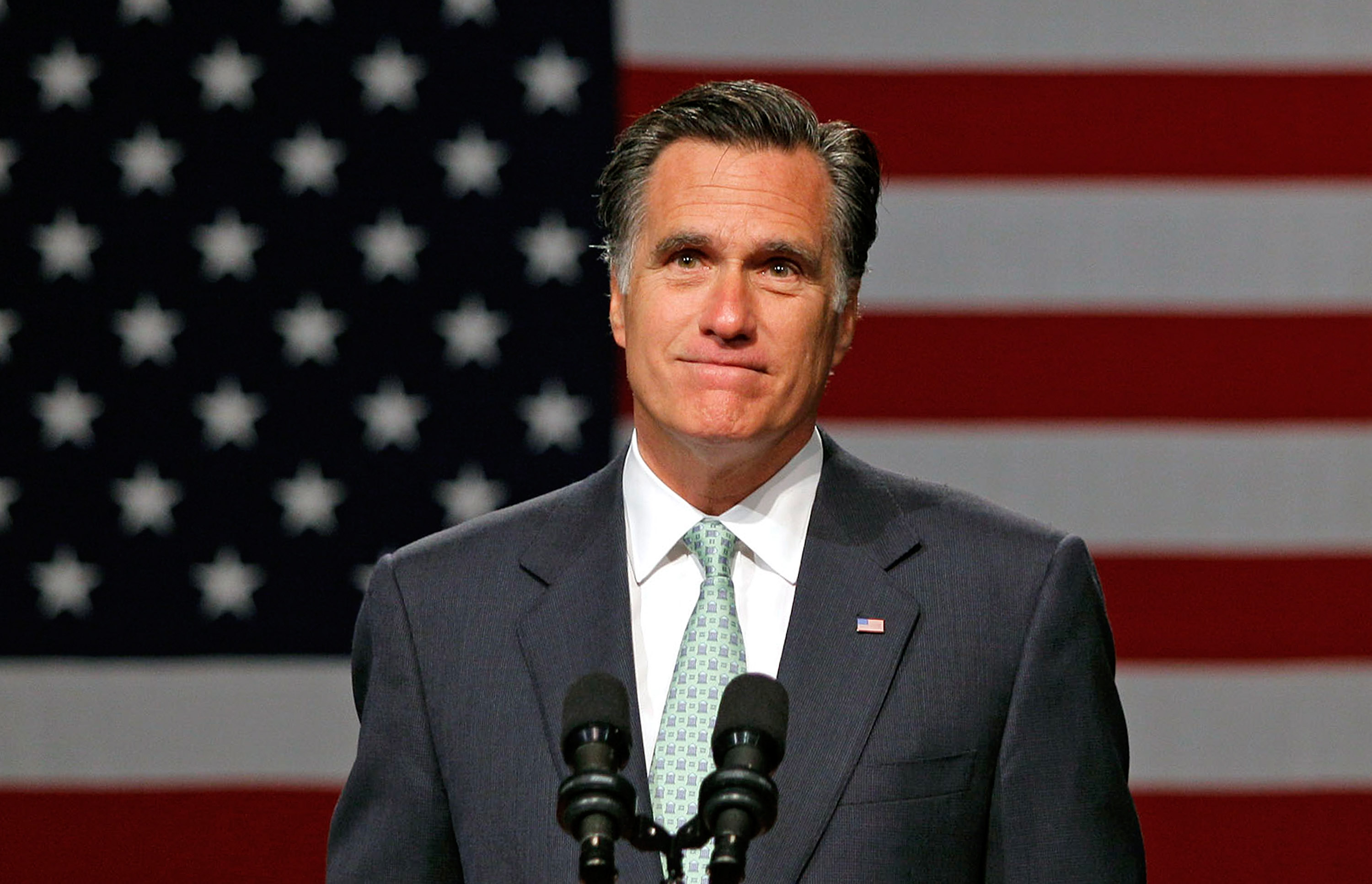 Mitt Romney speaks during a campaign stop at Lansing Community College on May 8, 2012 in Lansing, Mi.
