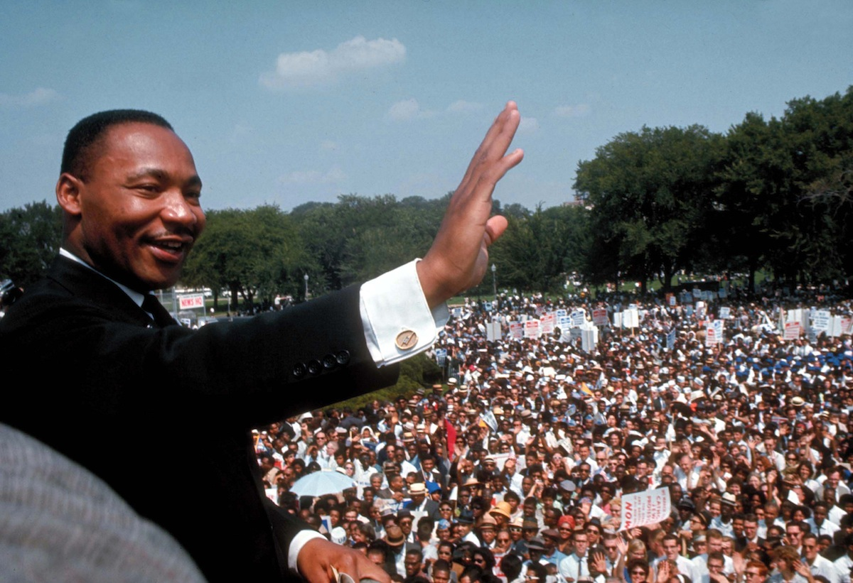 Dr. Martin Luther King Jr. giving his I Have a Dream speech in Washington DC in 1963