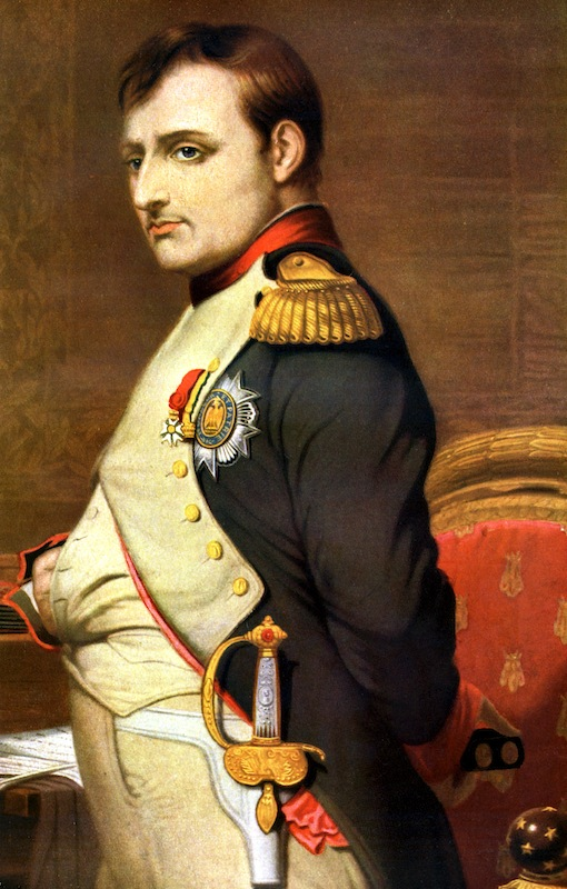 Napoleon Bonaparte, French general and Emperor. From Harmsworth, History of the World, published in London, 1909